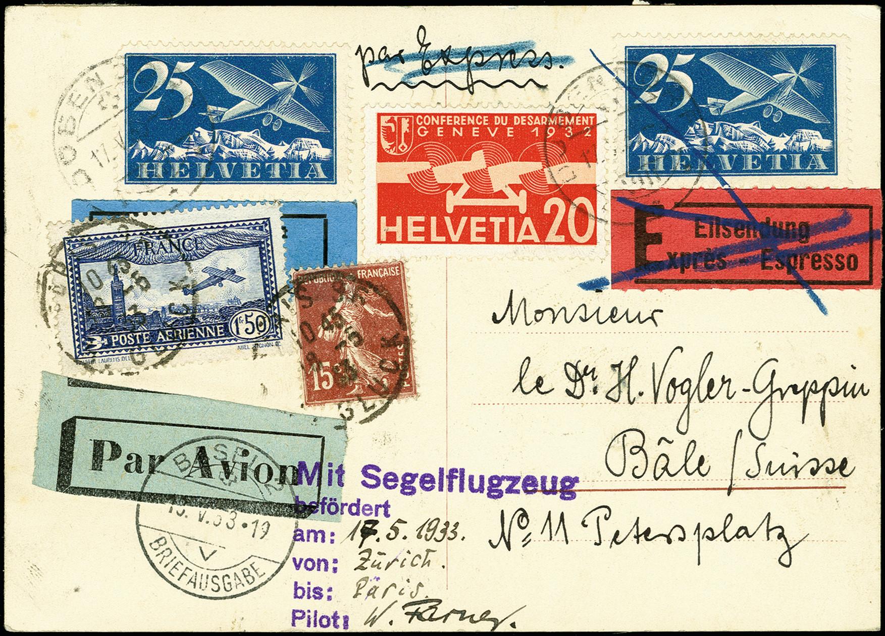 Lot 2276 - luftpost foreign airmail -  Heinrich Koehler Auktionen 375rd Heinrich Köhler auction - Day 1