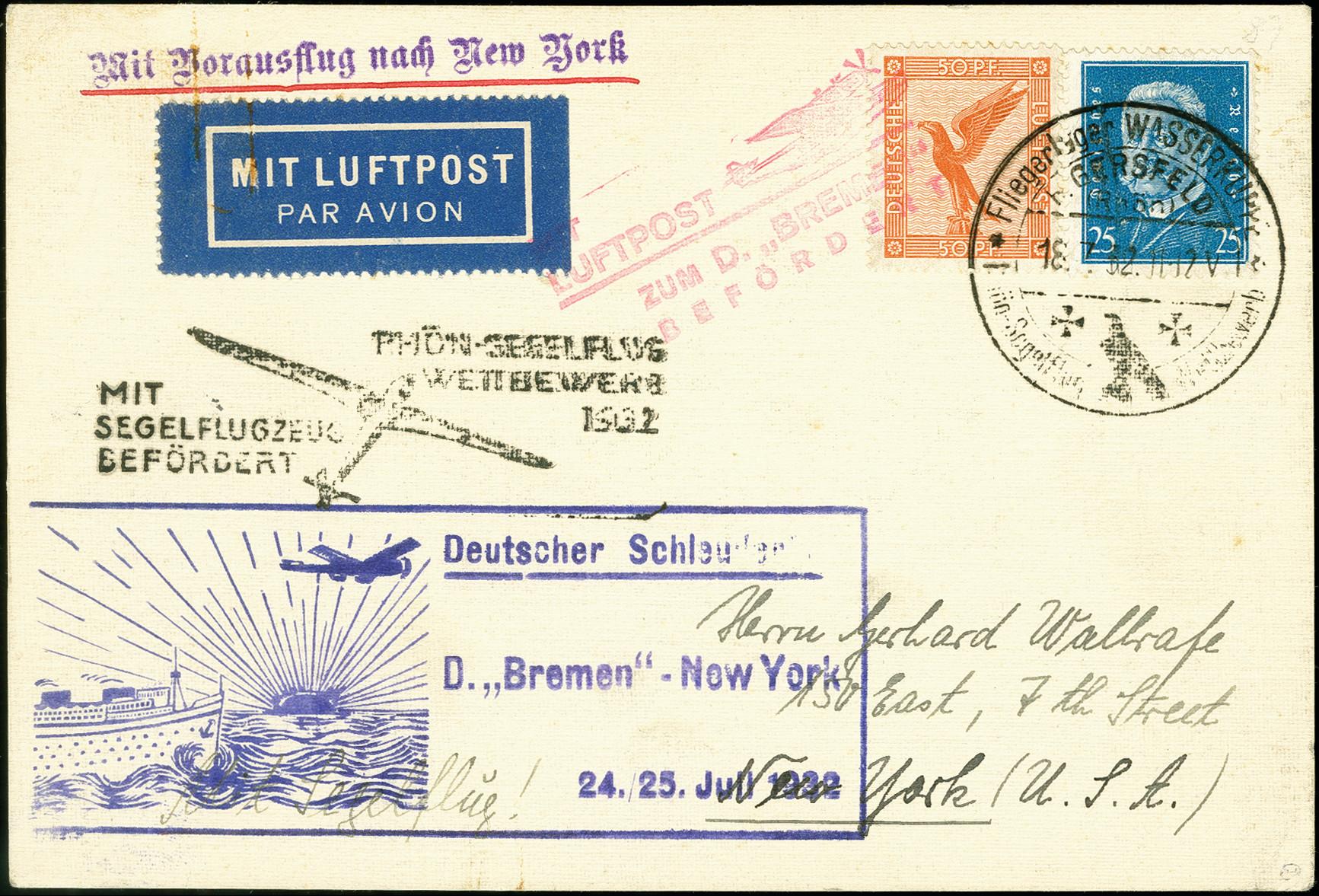 Lot 2303 - luftpost catapult post -  Heinrich Koehler Auktionen 375rd Heinrich Köhler auction - Day 1