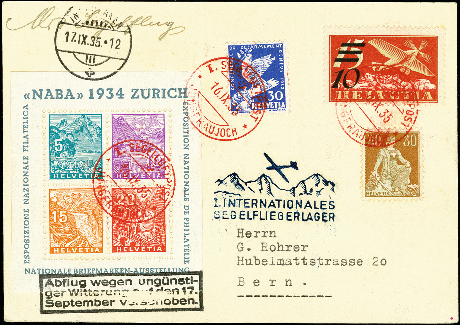 Lot 1129 - schweiz swiss federal post -  Heinrich Koehler Auktionen 375rd Heinrich Köhler auction - Day 1