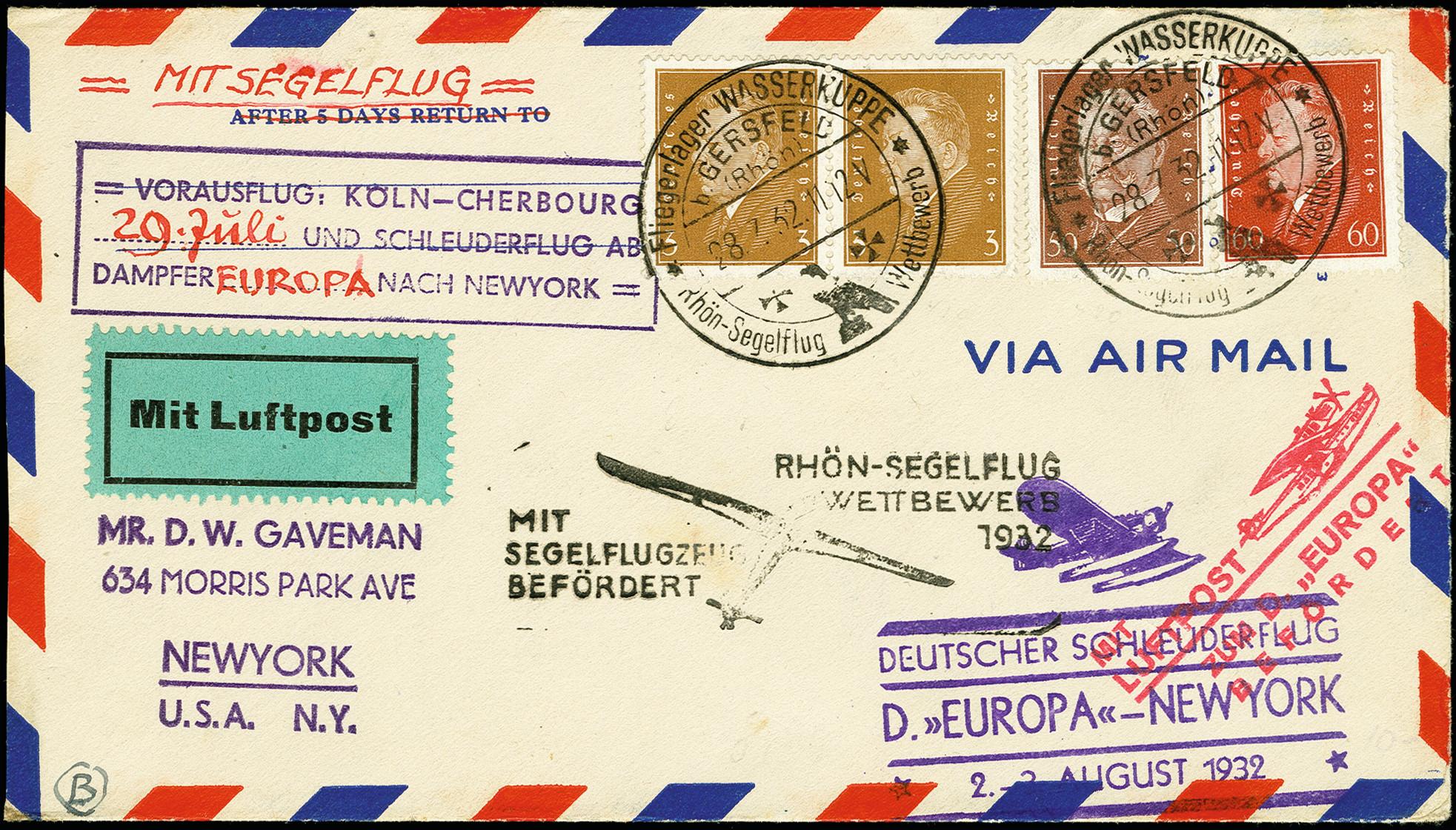 Lot 2305 - luftpost catapult post -  Heinrich Koehler Auktionen 375rd Heinrich Köhler auction - Day 1