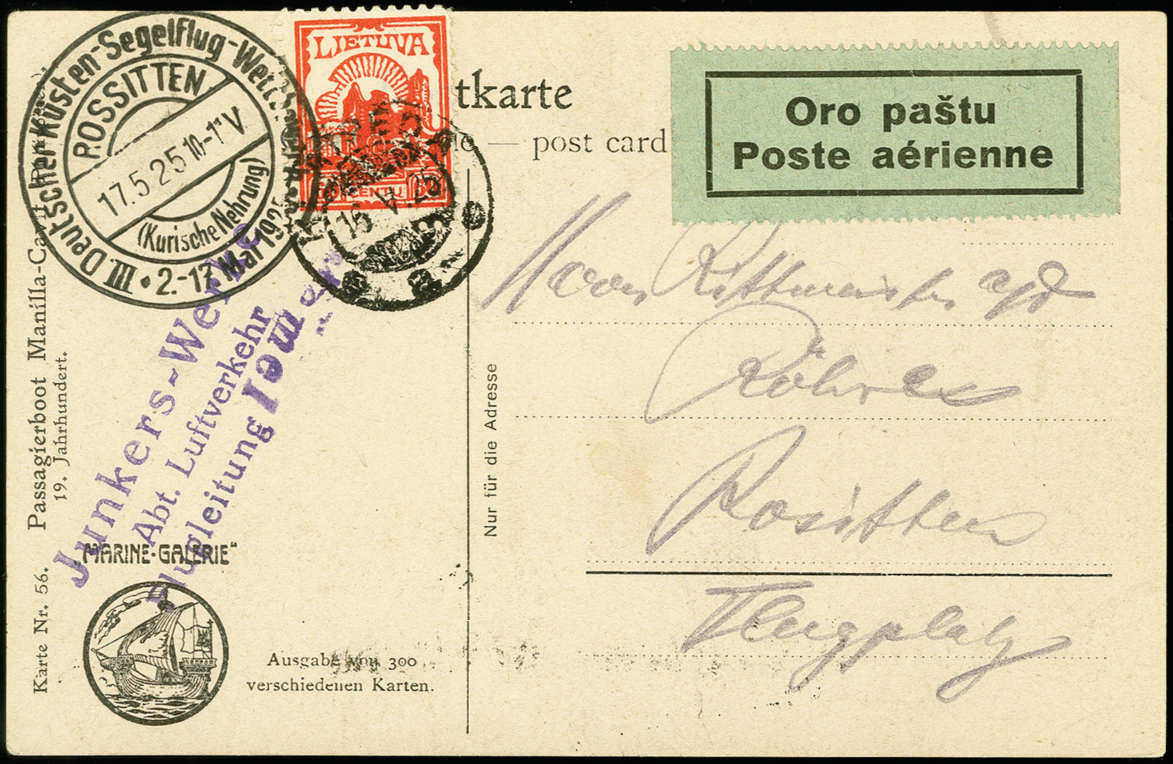 Lot 2271 - luftpost foreign airmail -  Heinrich Koehler Auktionen 375rd Heinrich Köhler auction - Day 1