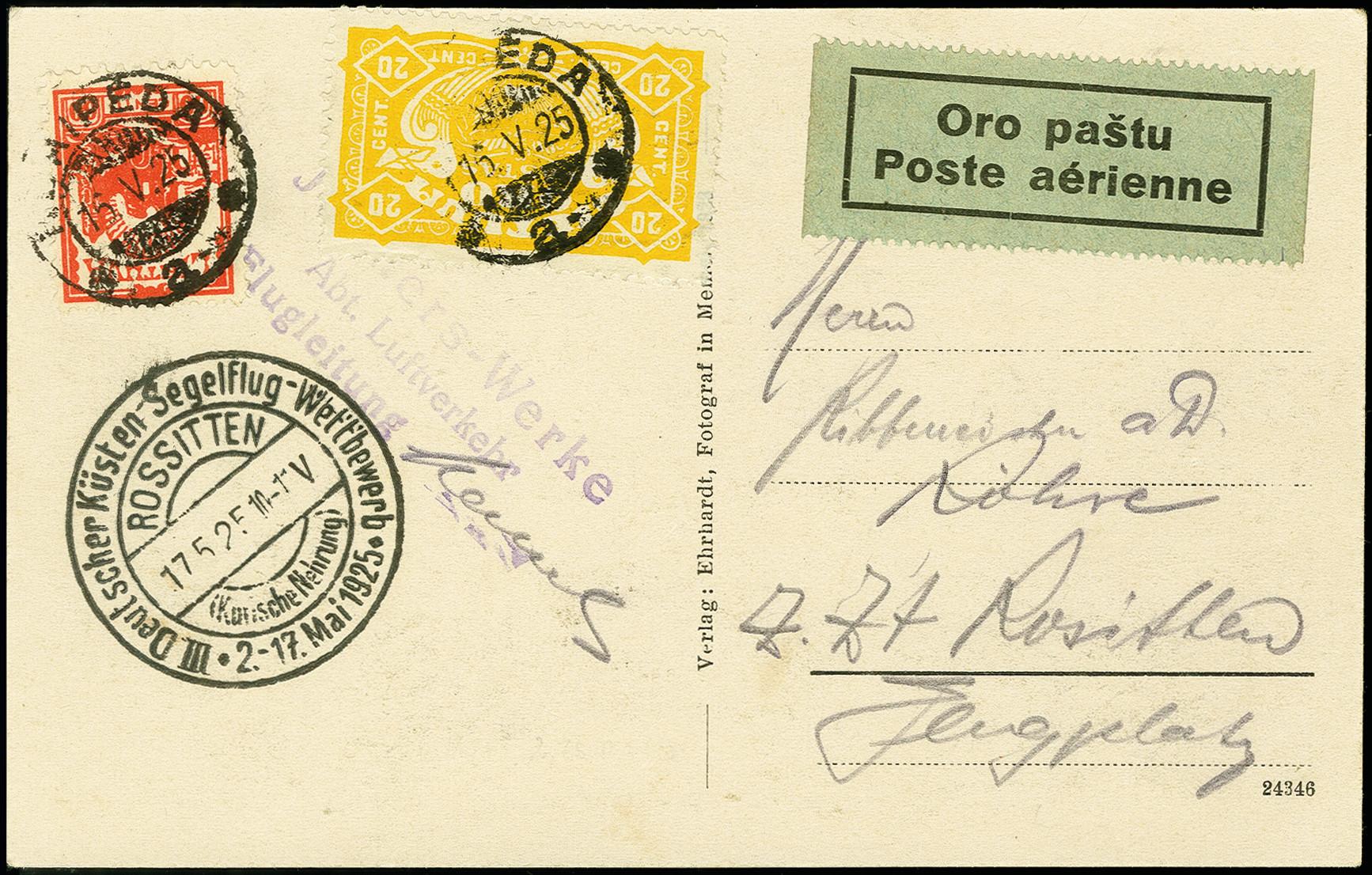 Lot 2272 - luftpost foreign airmail -  Heinrich Koehler Auktionen 375rd Heinrich Köhler auction - Day 1