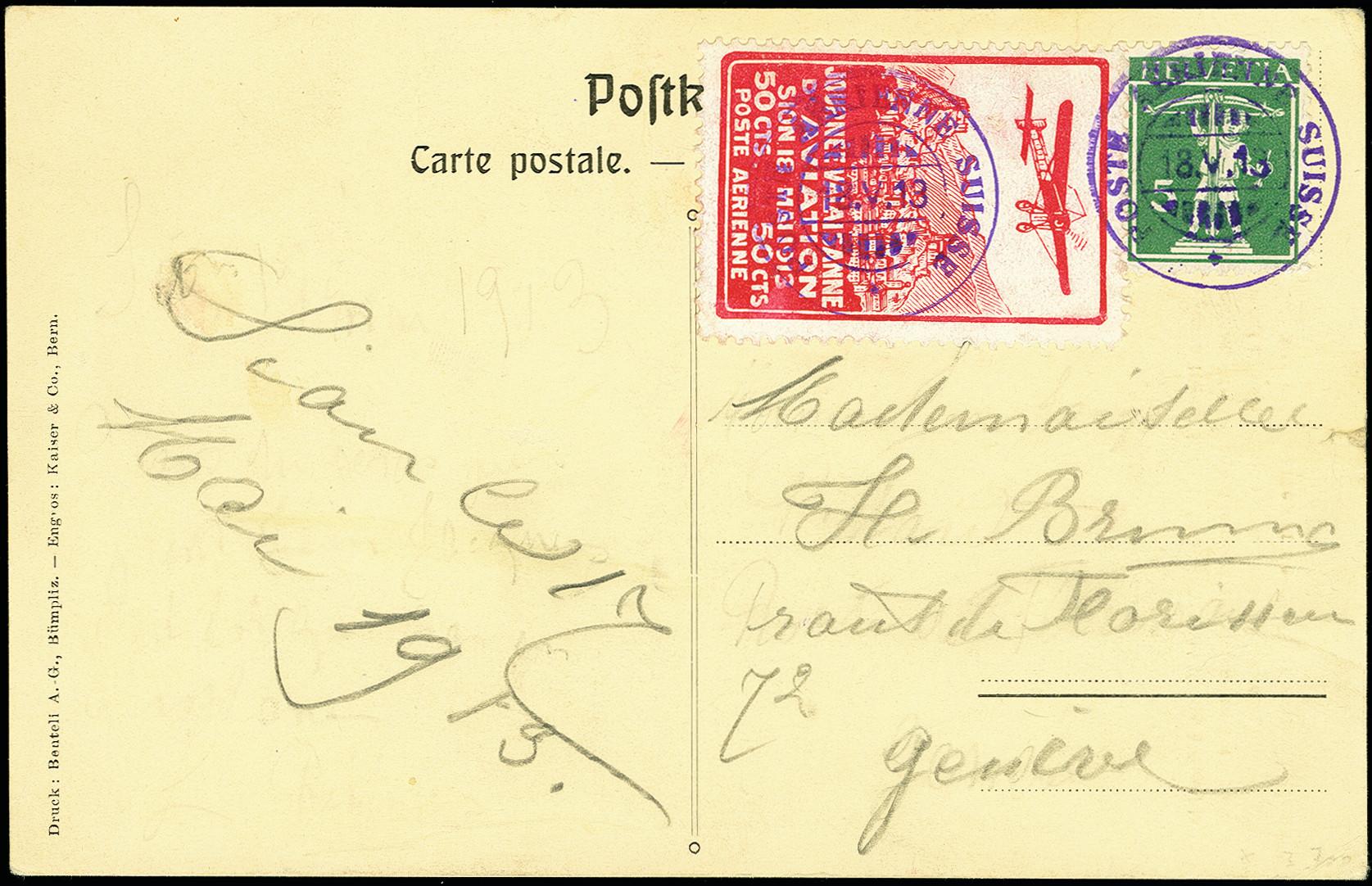Lot 1134 - europa Switzerland - semi-offical airmail -  Heinrich Koehler Auktionen 375rd Heinrich Köhler auction - Day 1