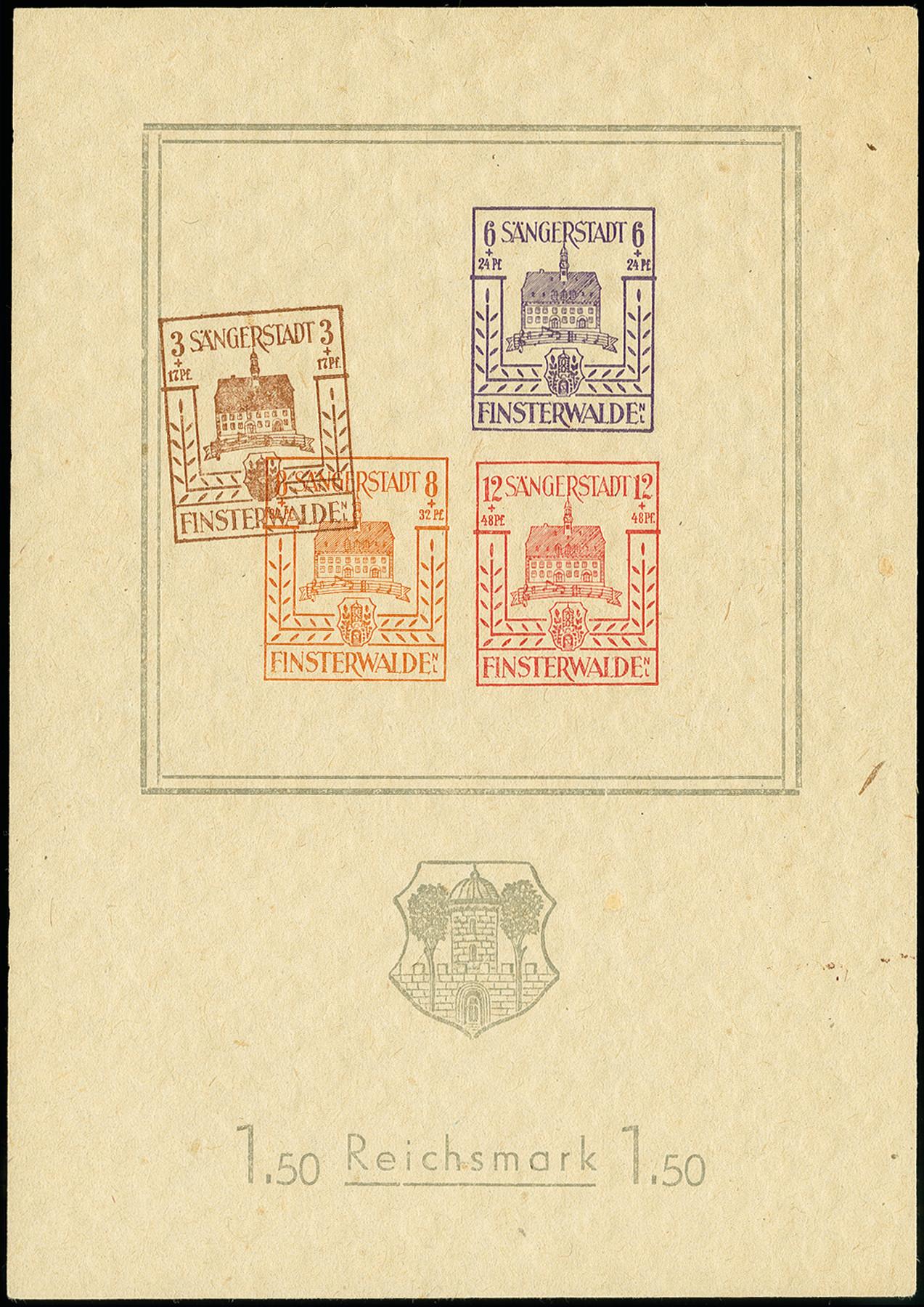 Lot 3469 - deutsche lokalausgaben ab 1945 finsterwalde -  Heinrich Koehler Auktionen 375rd Heinrich Köhler auction - Day 3