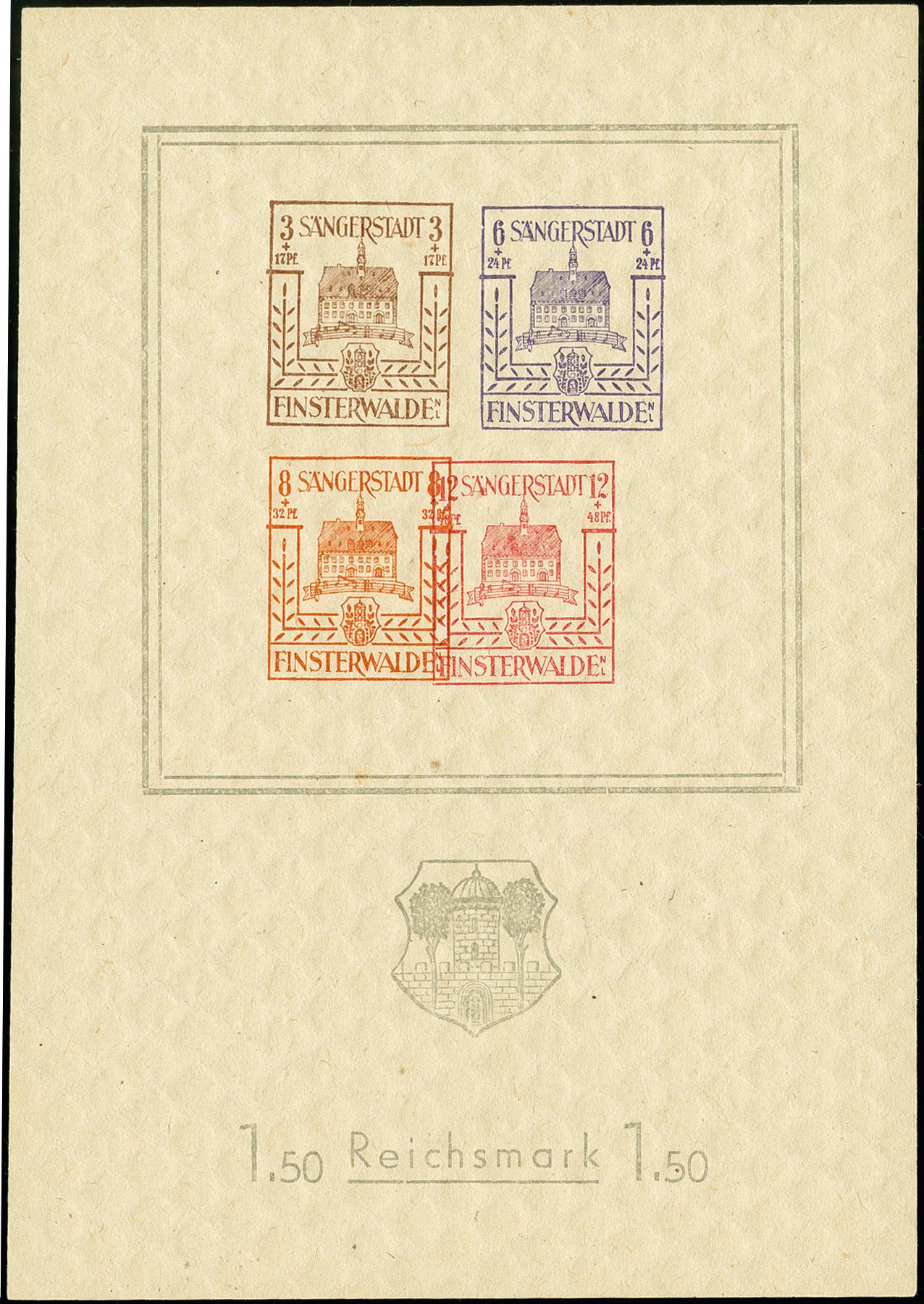 Lot 3468 - deutsche lokalausgaben ab 1945 finsterwalde -  Heinrich Koehler Auktionen 375rd Heinrich Köhler auction - Day 3