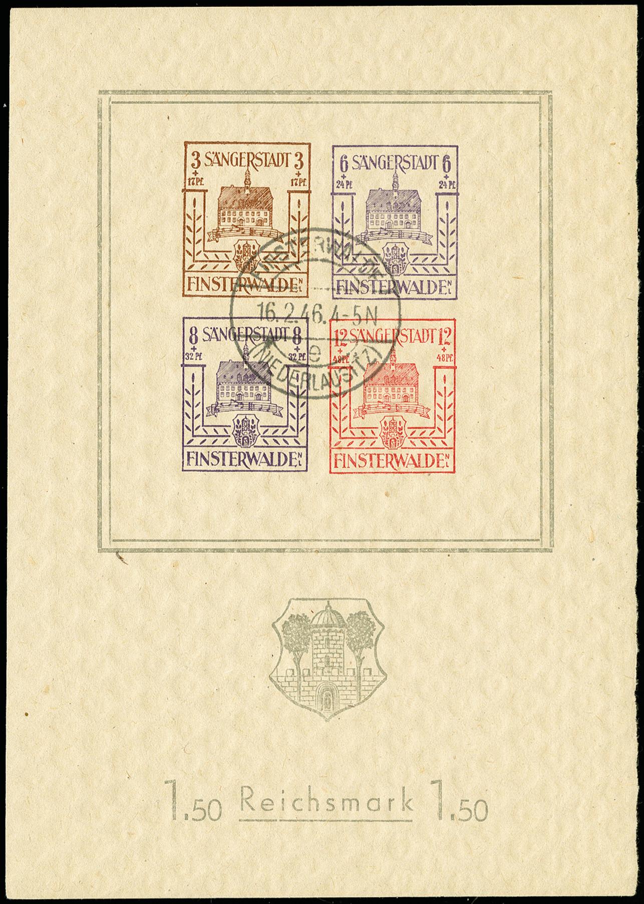Lot 3470 - deutsche lokalausgaben ab 1945 finsterwalde -  Heinrich Koehler Auktionen 375rd Heinrich Köhler auction - Day 3