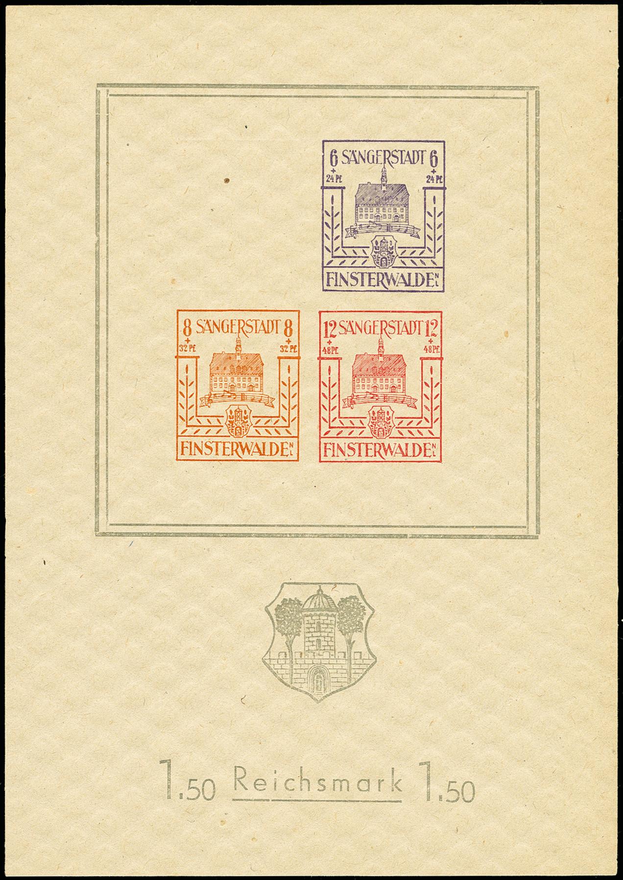 Lot 3471 - deutsche lokalausgaben ab 1945 finsterwalde -  Heinrich Koehler Auktionen 375rd Heinrich Köhler auction - Day 3