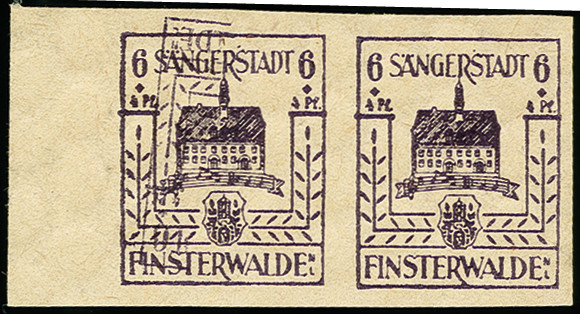 Lot 3459 - deutsche lokalausgaben ab 1945 finsterwalde -  Heinrich Koehler Auktionen 375rd Heinrich Köhler auction - Day 3