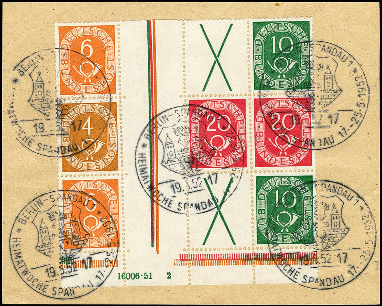 Lot 4217 - bundesrepublik deutschland federal republic of germany - se-tenants -  Heinrich Koehler Auktionen 375rd Heinrich Köhler auction - Day 3
