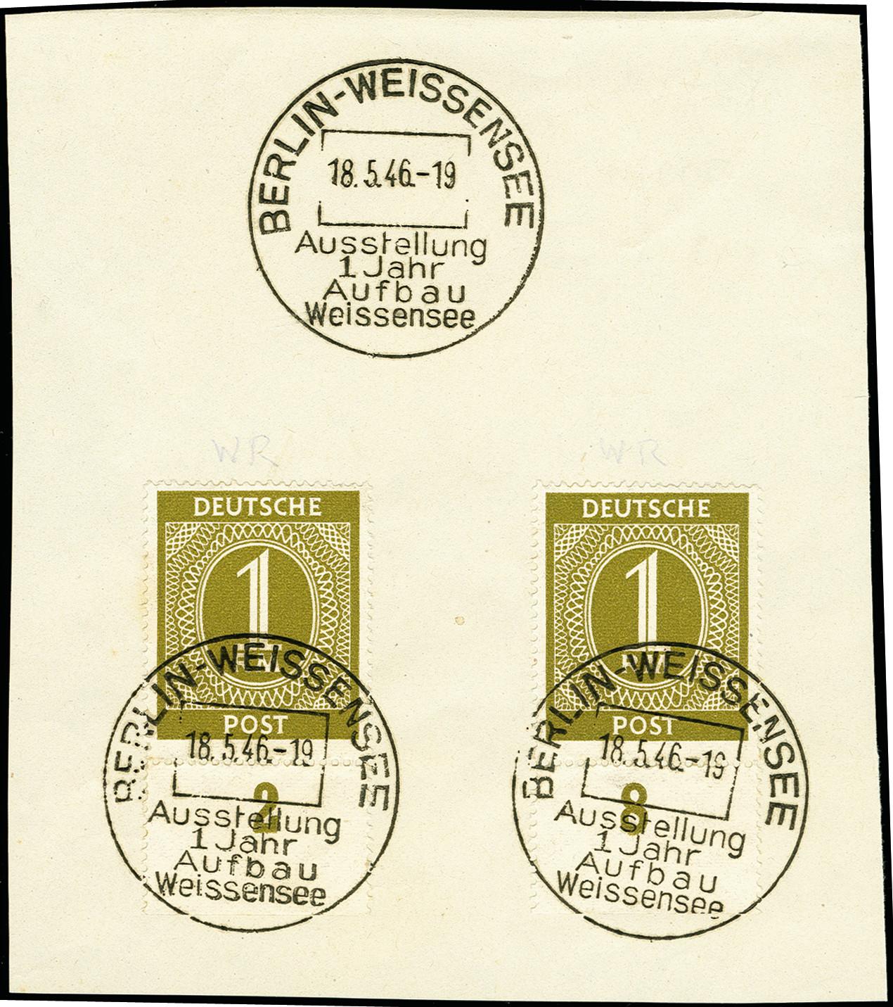 Lot 3583 - deutschland nach 1945 allied occupation -  Heinrich Koehler Auktionen 375rd Heinrich Köhler auction - Day 3