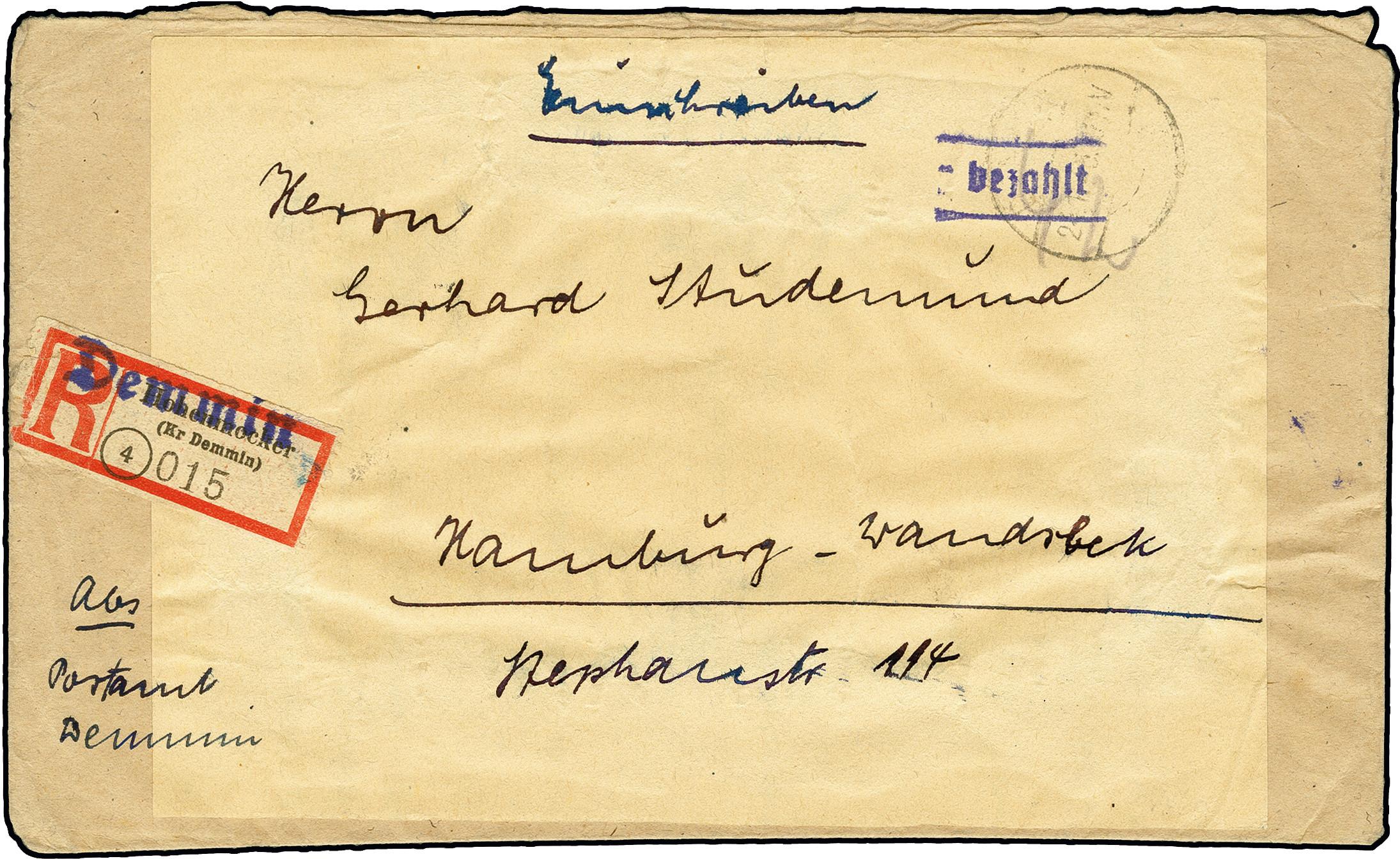 Lot 3456 - deutsche lokalausgaben ab 1945 demmin -  Heinrich Koehler Auktionen 375rd Heinrich Köhler auction - Day 3