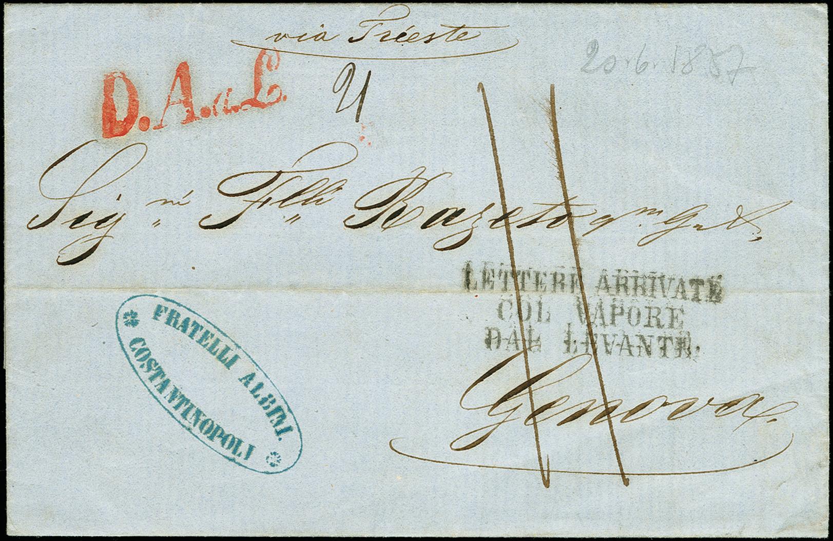 Lot 1119 - österreich post in the levante -  Heinrich Koehler Auktionen 375rd Heinrich Köhler auction - Day 1