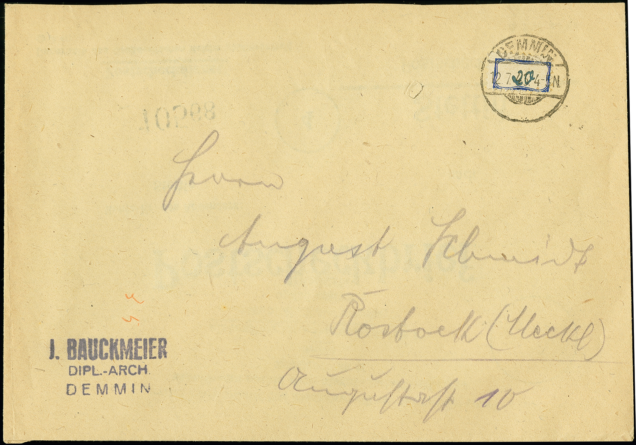 Lot 3449 - deutsche lokalausgaben ab 1945 demmin -  Heinrich Koehler Auktionen 375rd Heinrich Köhler auction - Day 3