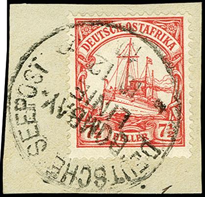Lot 2871 - deutsch-ostafrika german east africa - cancellations -  Heinrich Koehler Auktionen 375rd Heinrich Köhler auction - Day 2