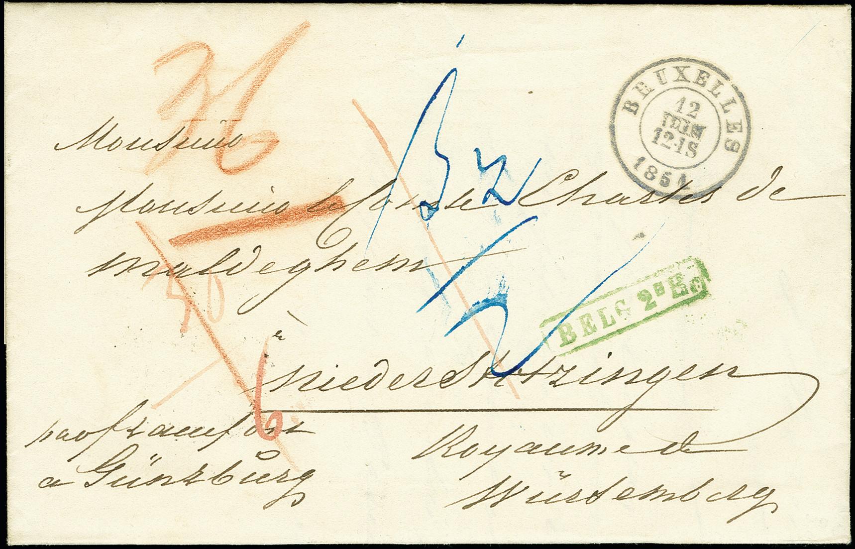 Lot 1138 - europa Belgium -  Heinrich Koehler Auktionen 375rd Heinrich Köhler auction - Day 1