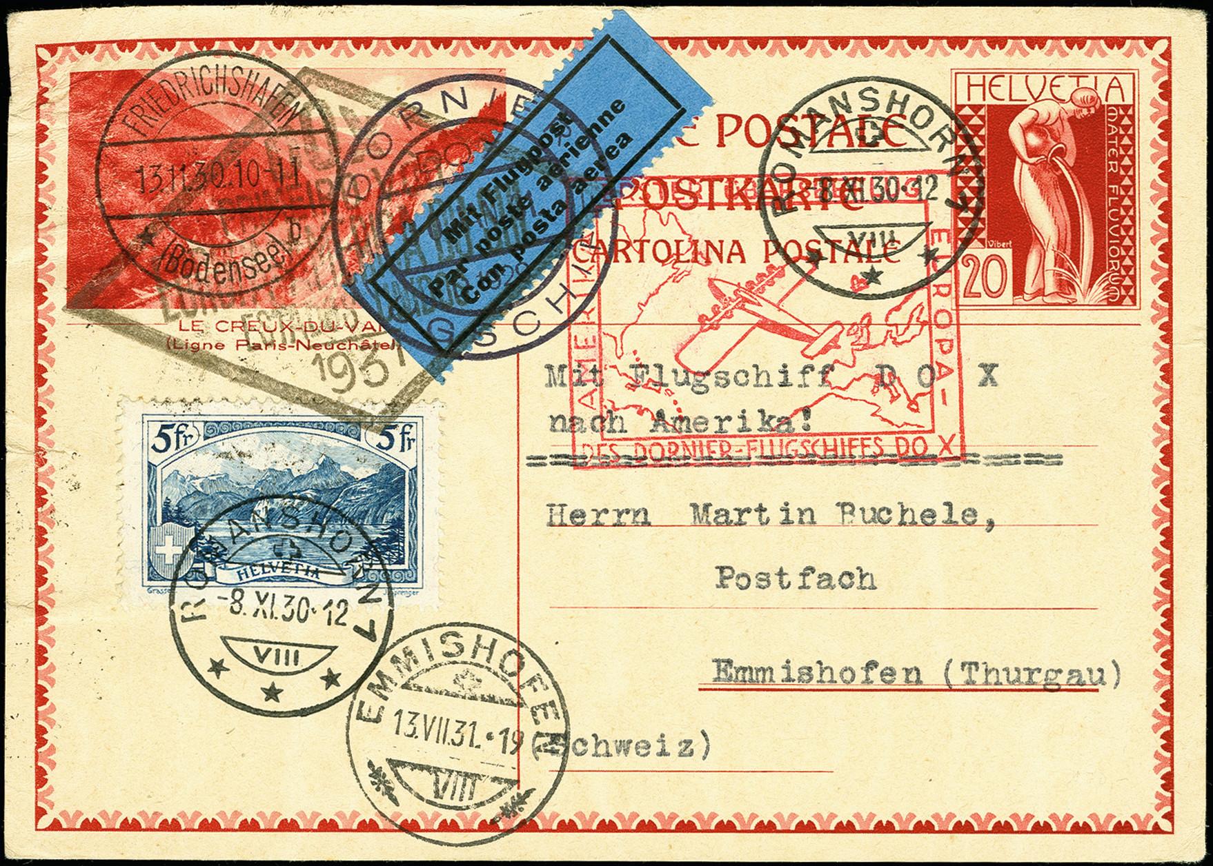 Lot 2314 - luftpost dox -  Heinrich Koehler Auktionen 375rd Heinrich Köhler auction - Day 1