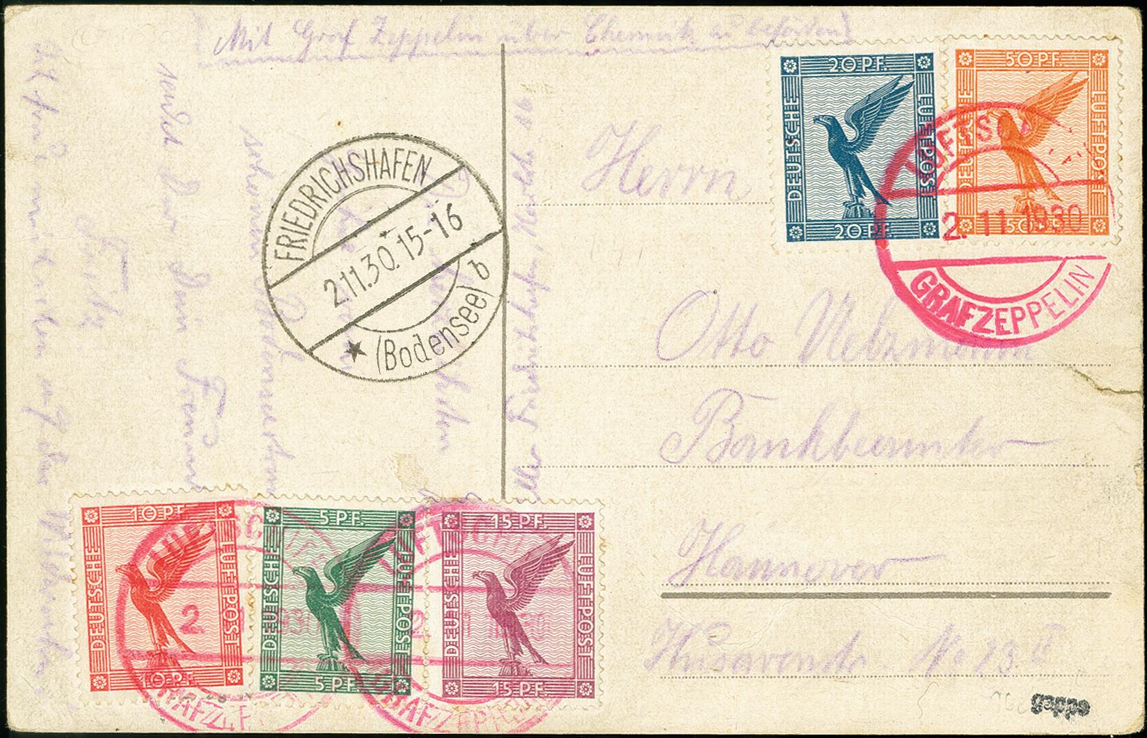 Lot 2283 - luftpost zeppelin -  Heinrich Koehler Auktionen 375rd Heinrich Köhler auction - Day 1