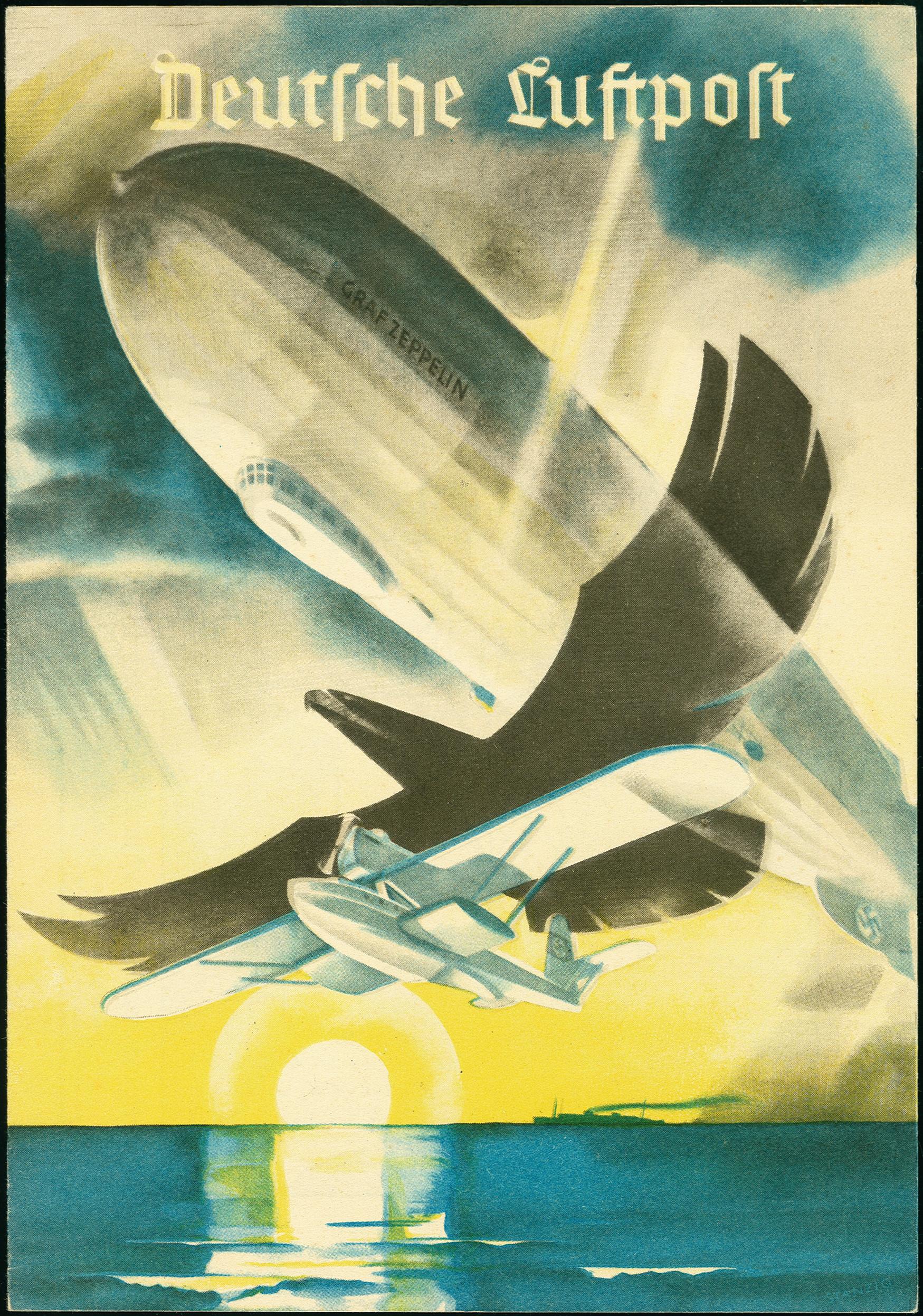 Lot 2299 - luftpost zeppelin -  Heinrich Koehler Auktionen 375rd Heinrich Köhler auction - Day 1