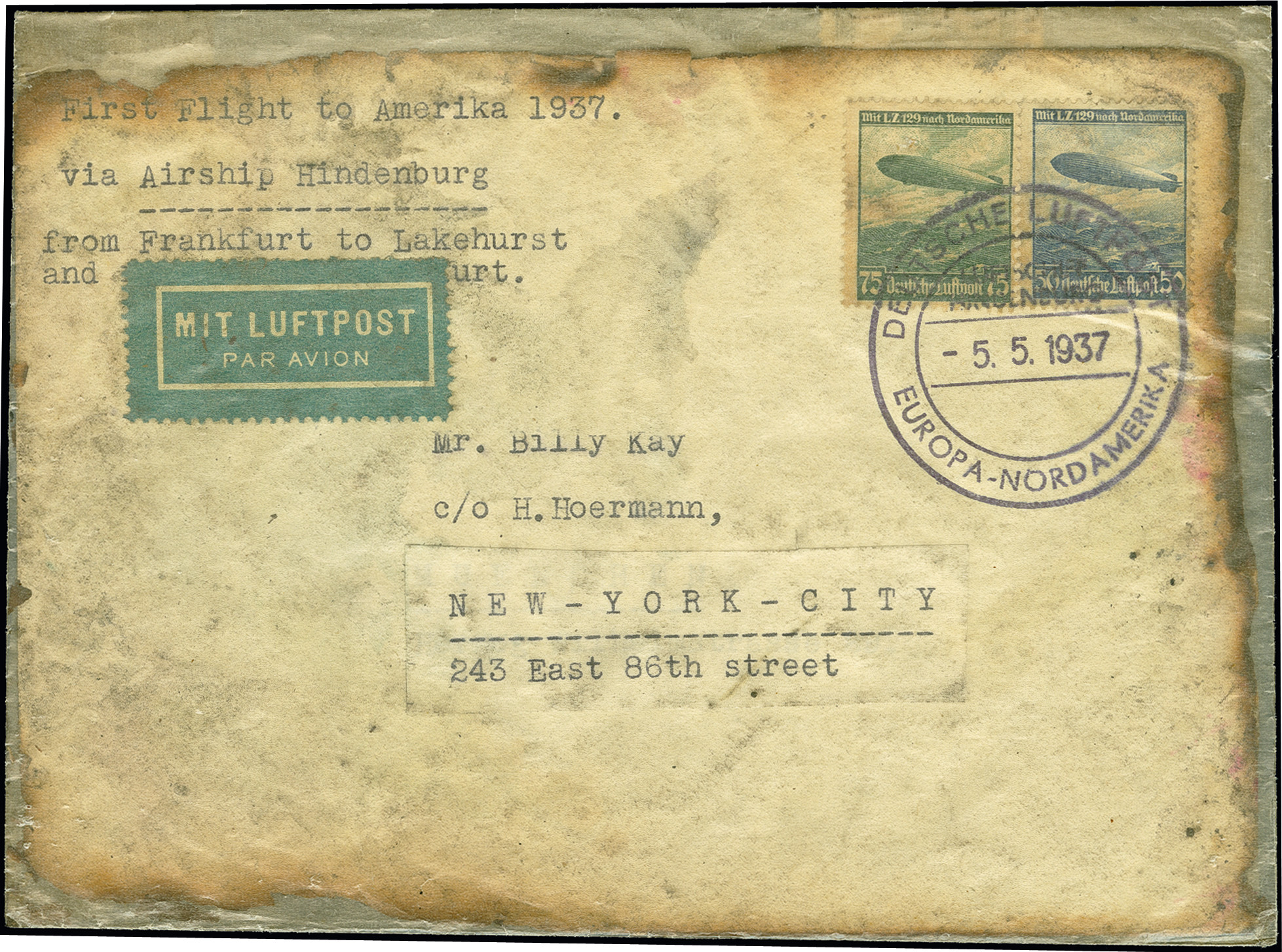 Lot 2285 - luftpost zeppelin -  Heinrich Koehler Auktionen 375rd Heinrich Köhler auction - Day 1