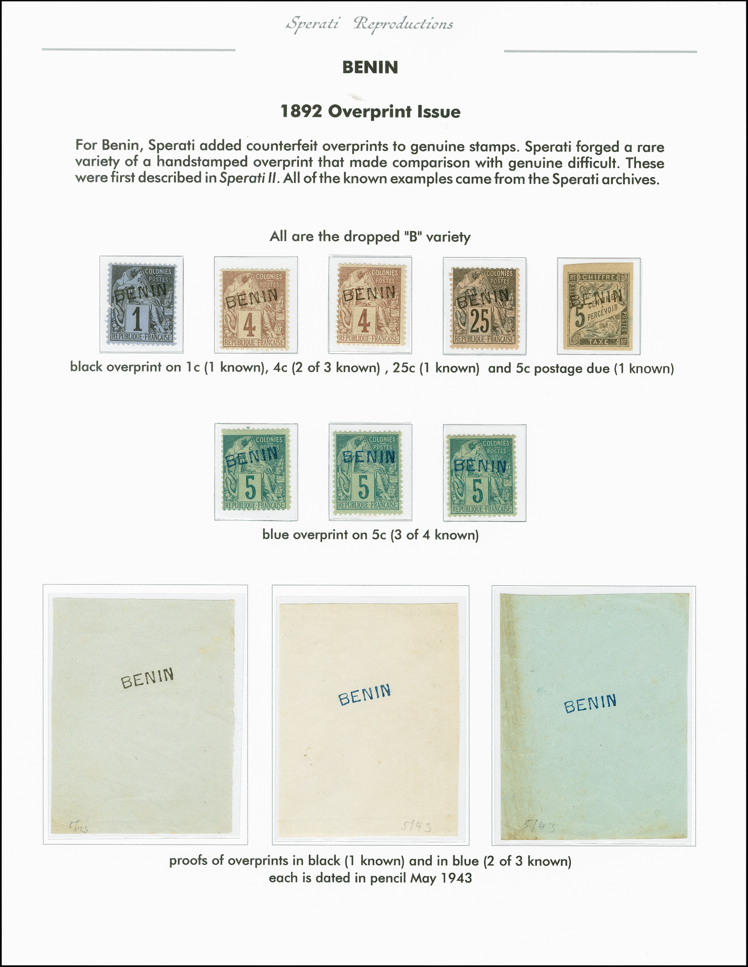 Lot 2201 - französische kolonien Benin -  Heinrich Koehler Auktionen 375rd Heinrich Köhler auction - Day 1