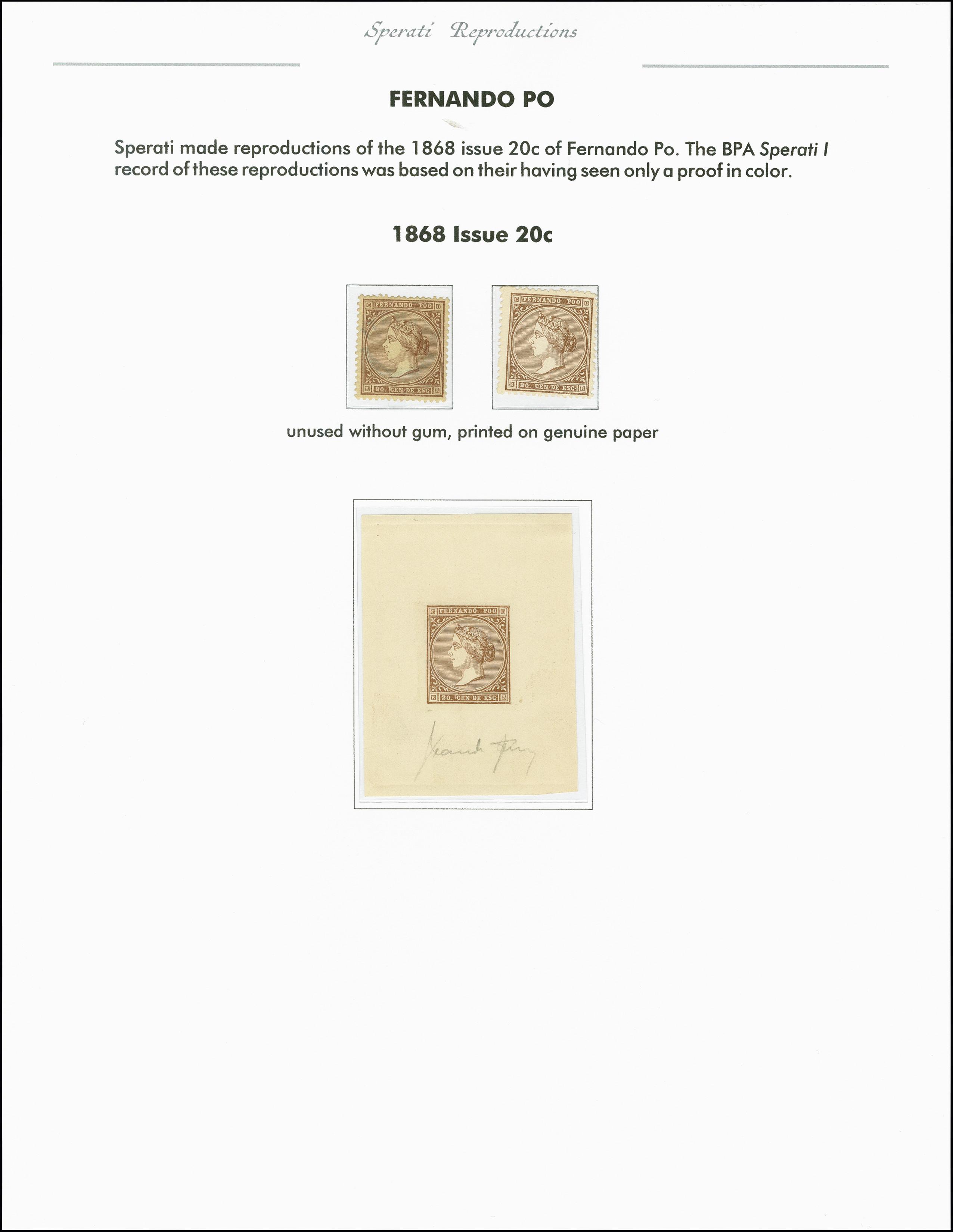 Lot 2215 - spanische kolonien Fernando Poo -  Heinrich Koehler Auktionen 375rd Heinrich Köhler auction - Day 1