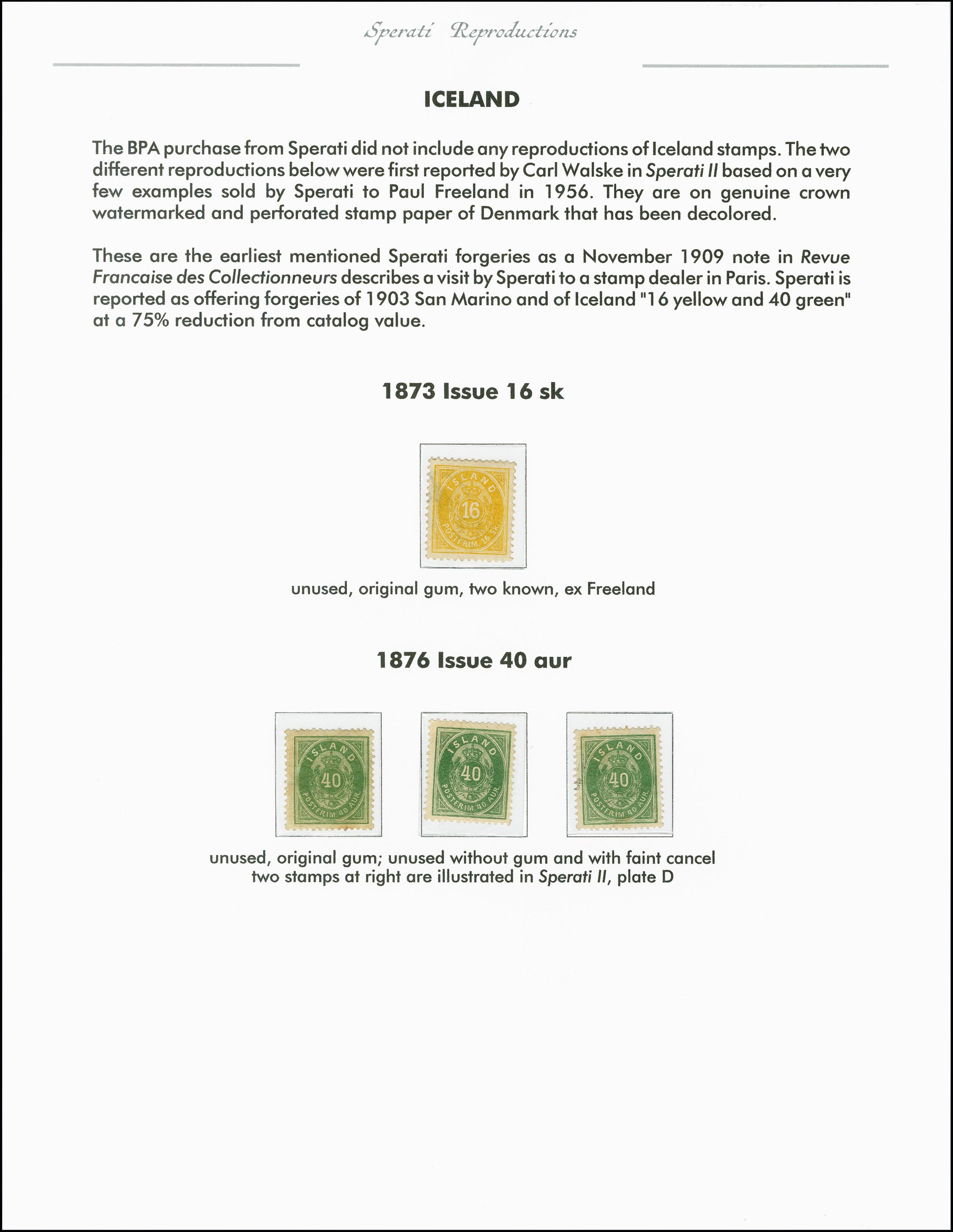 Lot 2203 - europa Iceland -  Heinrich Koehler Auktionen 375rd Heinrich Köhler auction - Day 1
