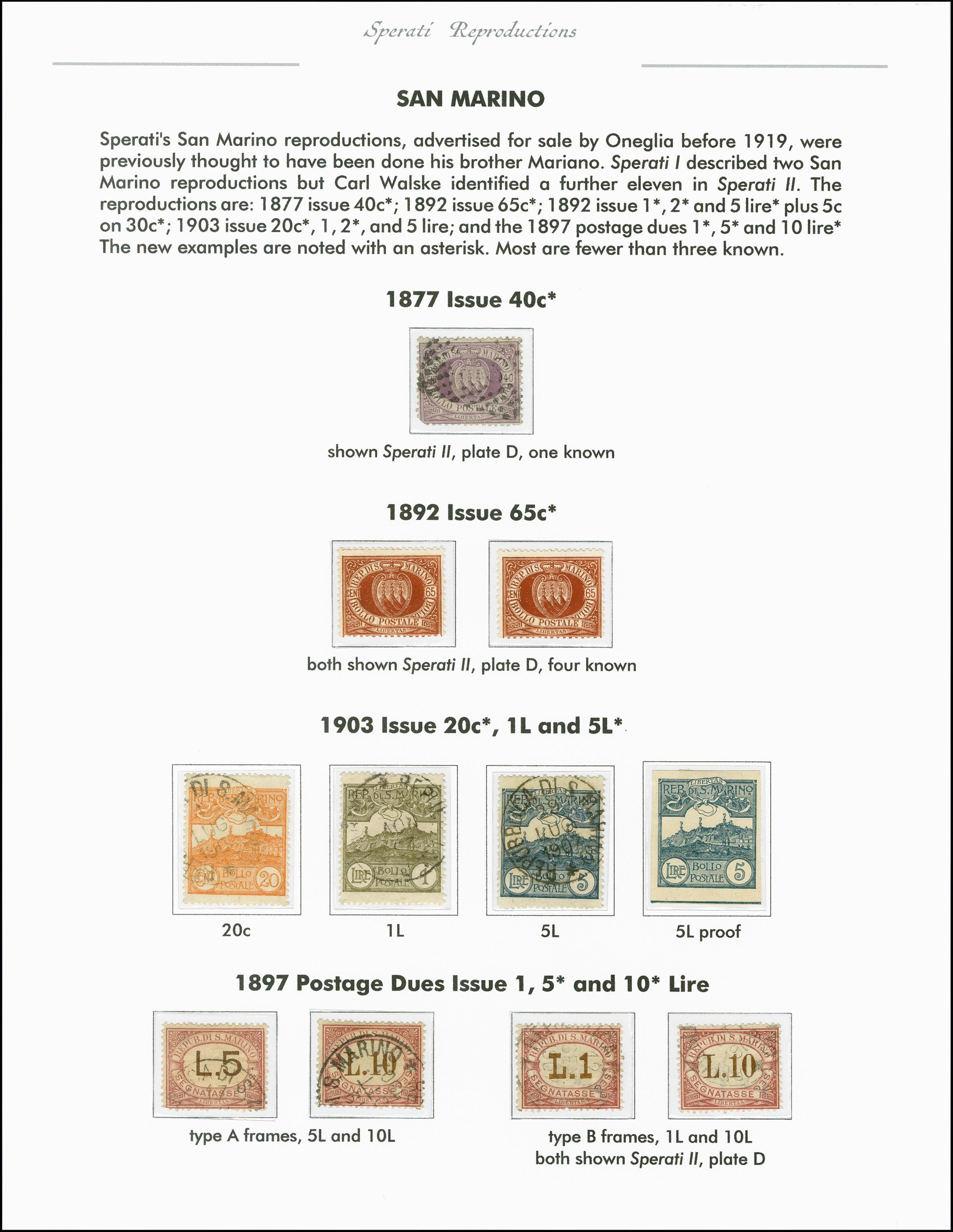 Lot 2211 - europa San Marino -  Heinrich Koehler Auktionen 375rd Heinrich Köhler auction - Day 1