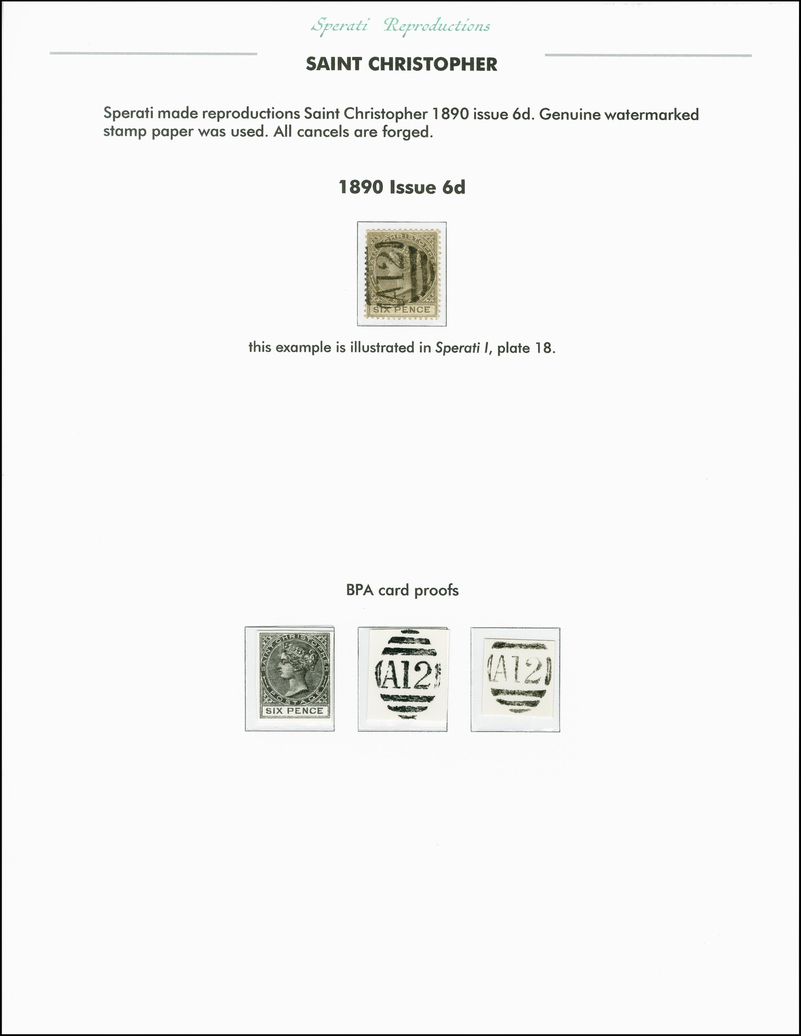 Lot 2263 - Britisch Commonwealth st. christopher -  Heinrich Koehler Auktionen 375rd Heinrich Köhler auction - Day 1