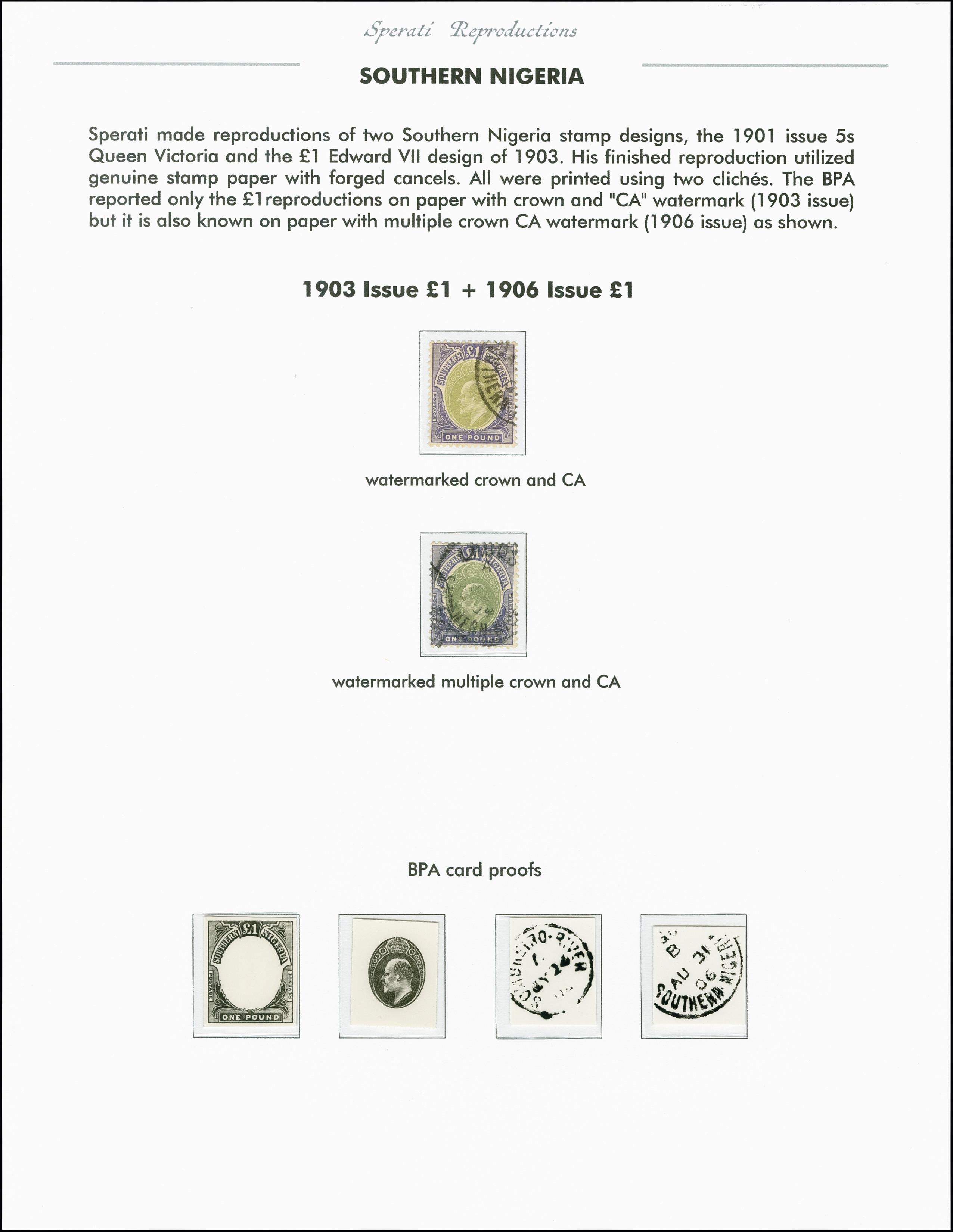 Lot 2262 - Britisch Commonwealth southern nigeria -  Heinrich Koehler Auktionen 375rd Heinrich Köhler auction - Day 1