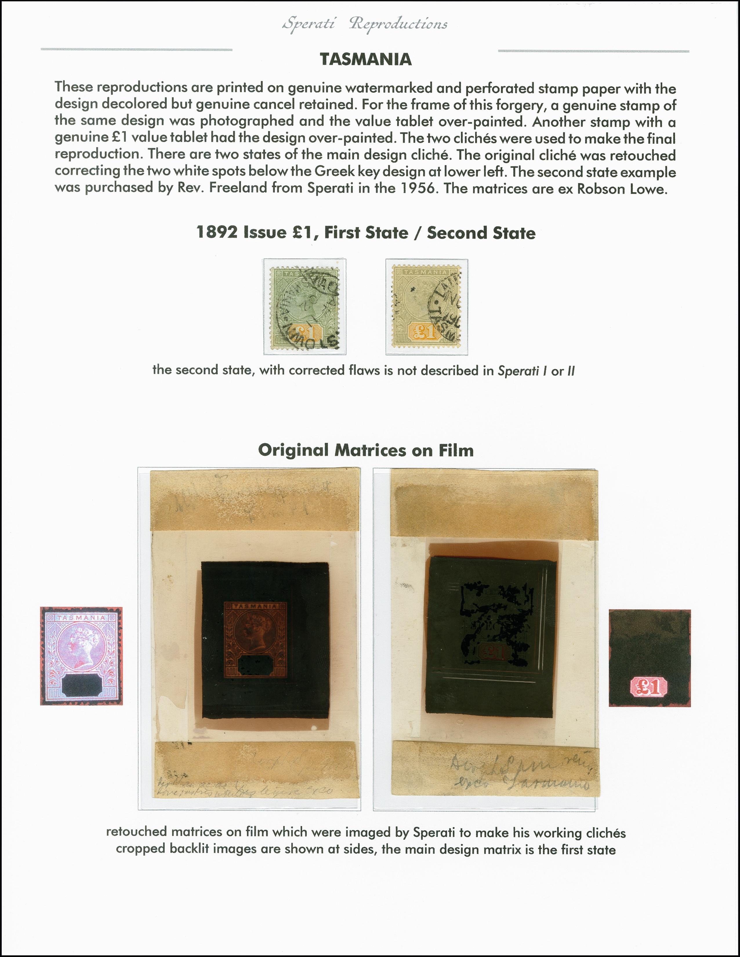 Lot 2241 - Australia tasmania -  Heinrich Koehler Auktionen 375rd Heinrich Köhler auction - Day 1