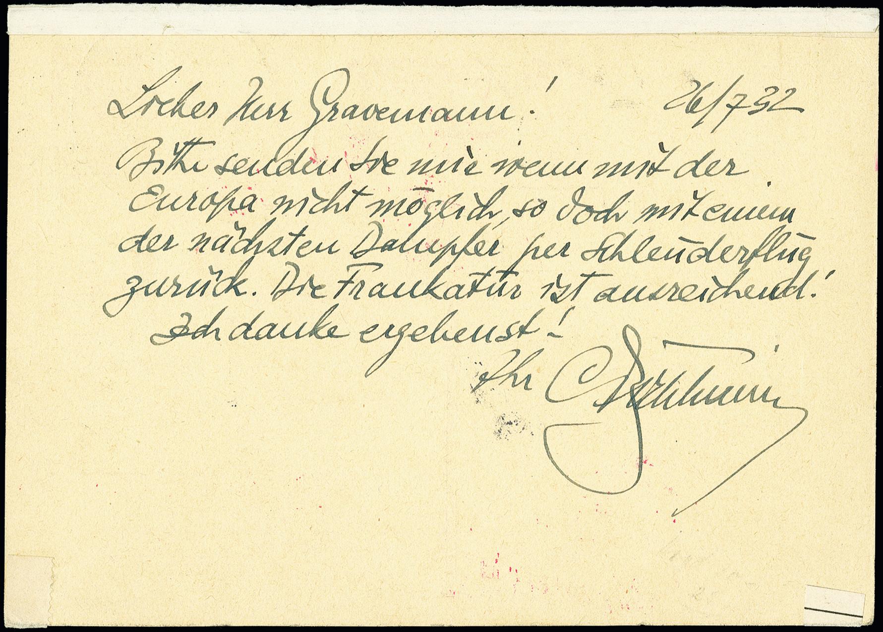 Lot 2304 - luftpost catapult post -  Heinrich Koehler Auktionen 375rd Heinrich Köhler auction - Day 1