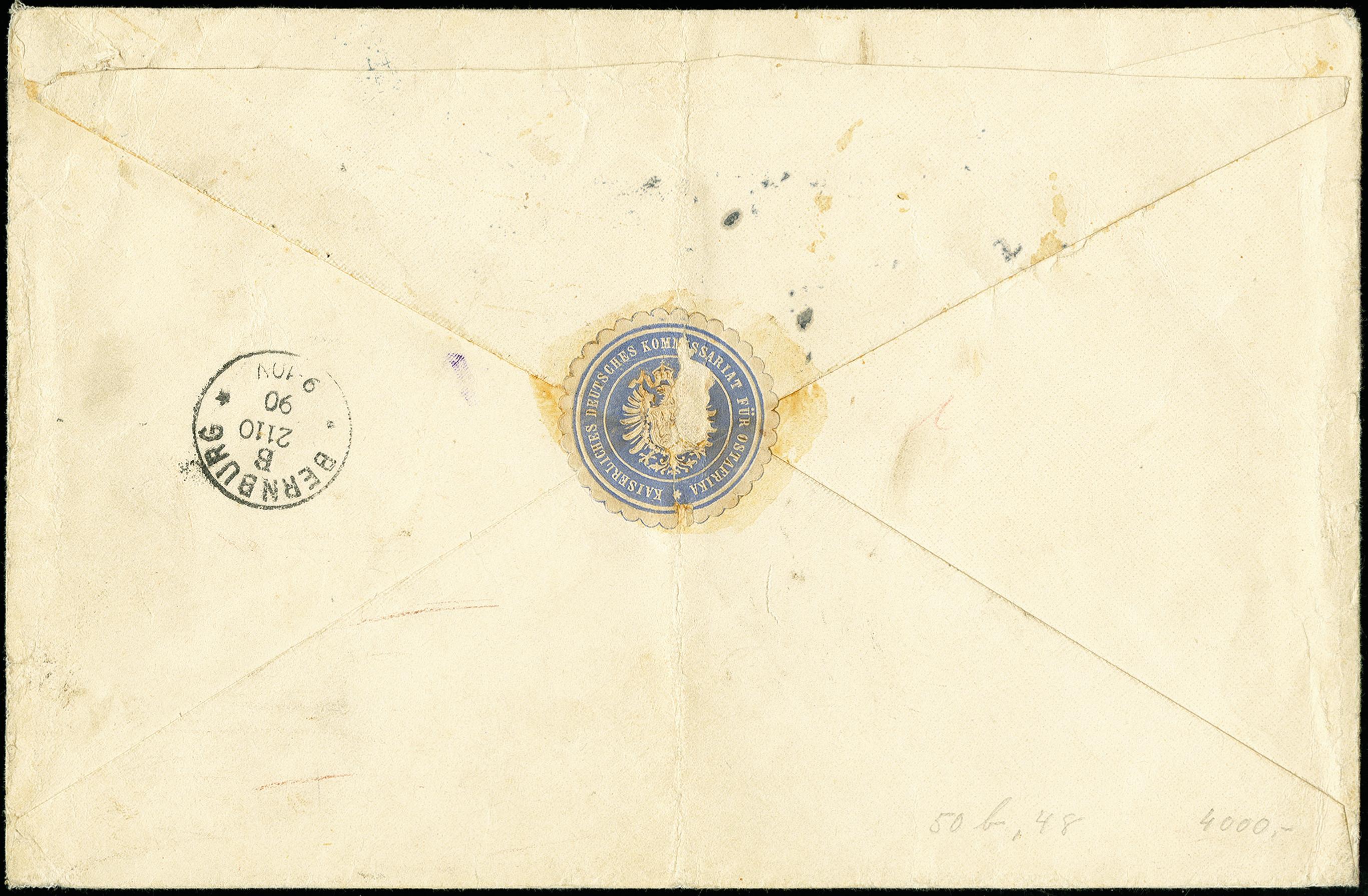 Lot 2857 - deutsch-ostafrika German East Africa - forerunners Zanzibar -  Heinrich Koehler Auktionen 375rd Heinrich Köhler auction - Day 2