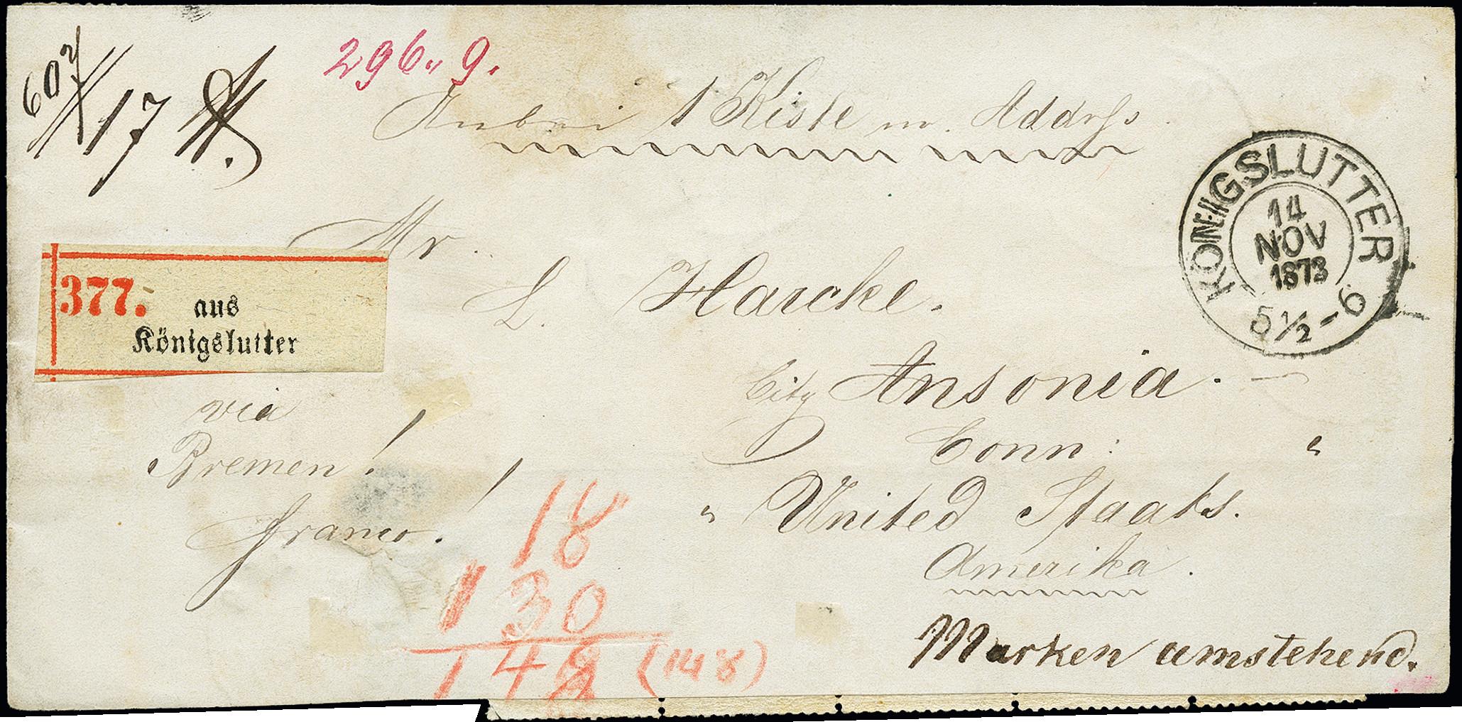 Lot 2441 - Main catalogue German Empire -  Heinrich Koehler Auktionen 375rd Heinrich Köhler auction - Day 2