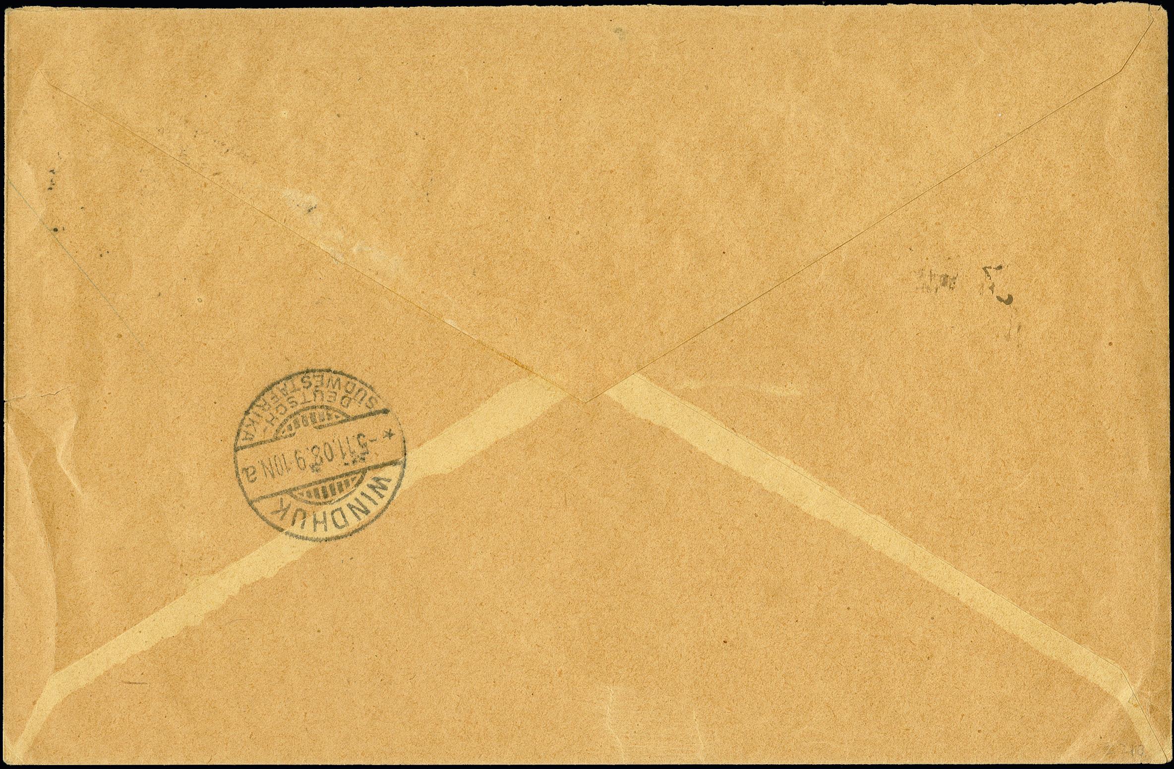 Lot 2911 - deutsche auslandspostämter und kolonien german south-west africa -  Heinrich Koehler Auktionen 375rd Heinrich Köhler auction - Day 2