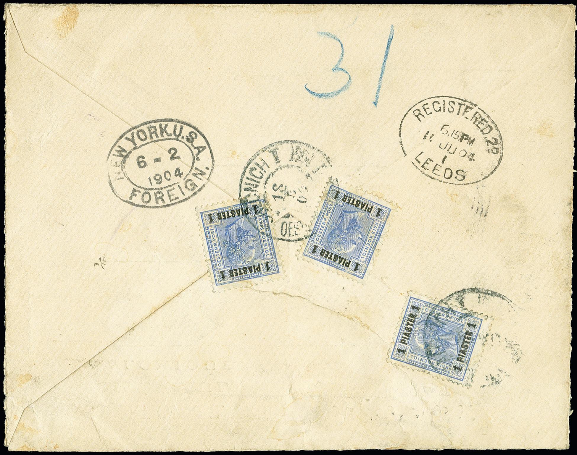 Lot 1127 - österreich post in the levante -  Heinrich Koehler Auktionen 375rd Heinrich Köhler auction - Day 1
