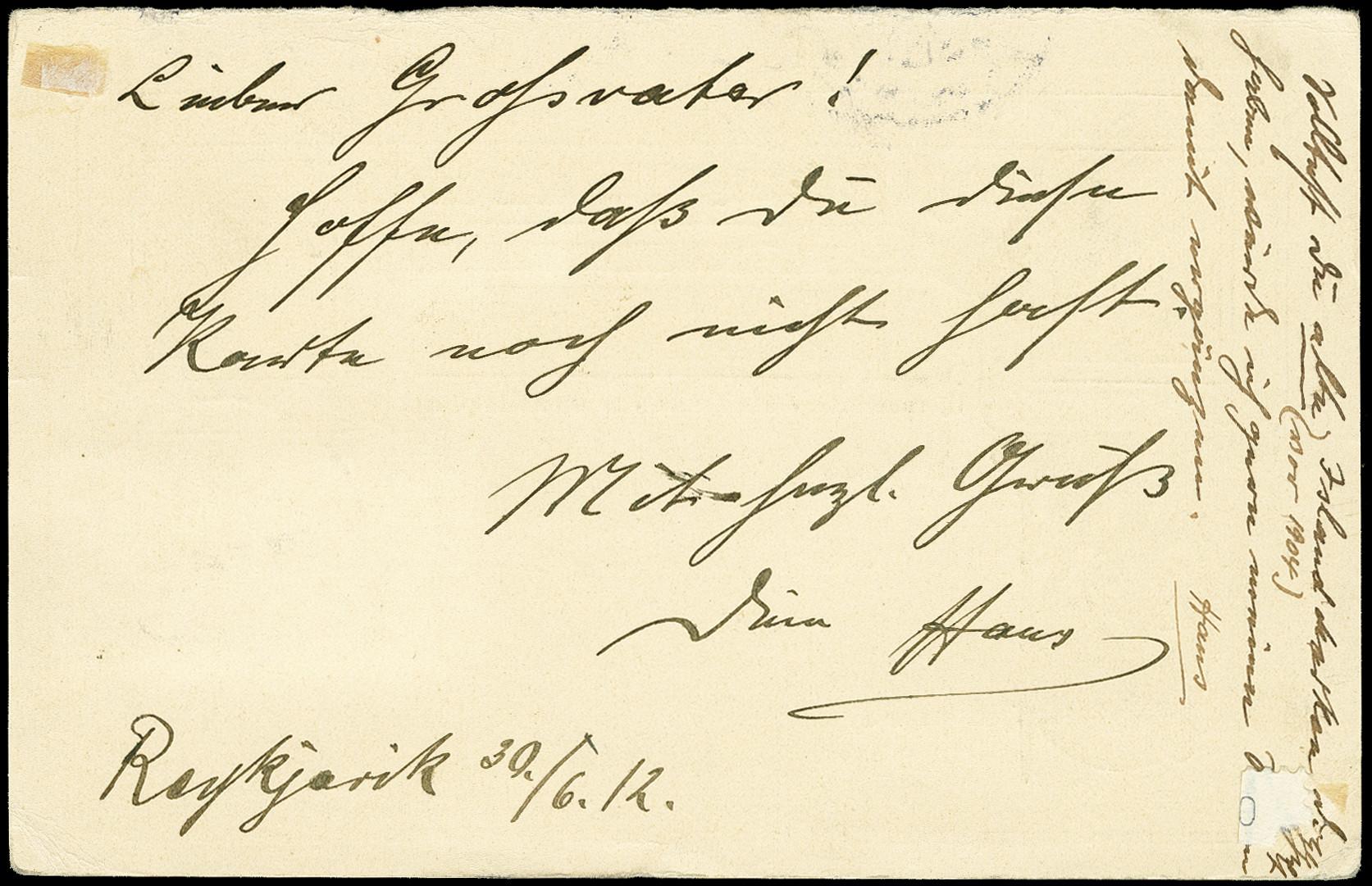 Lot 1498 - europa Iceland -  Heinrich Koehler Auktionen 375rd Heinrich Köhler auction - Day 1