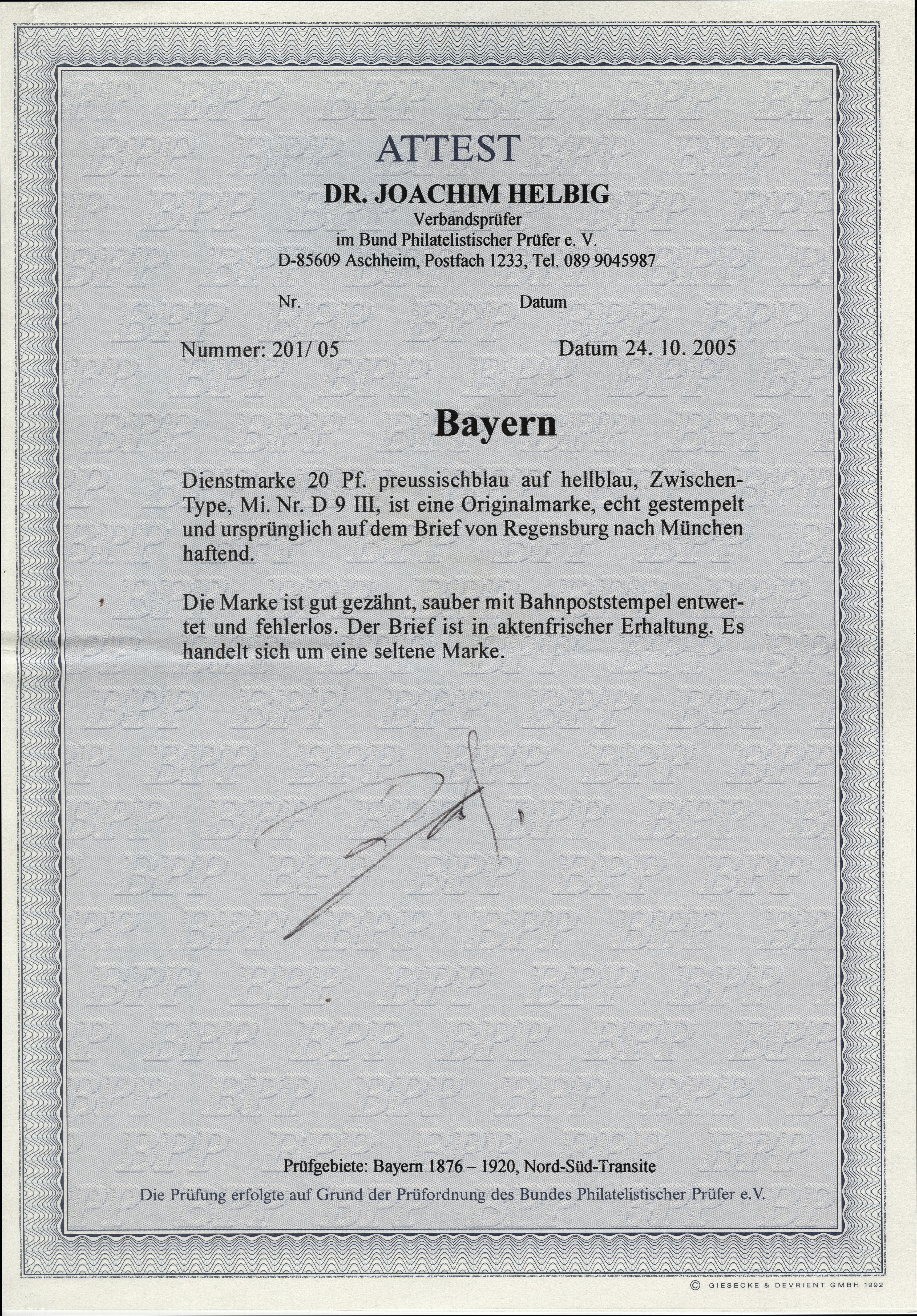 Lot 7232 - bavaria Bavaria officals -  Heinrich Koehler Auktionen Heinrich Köhler Auction 376 - Day 5