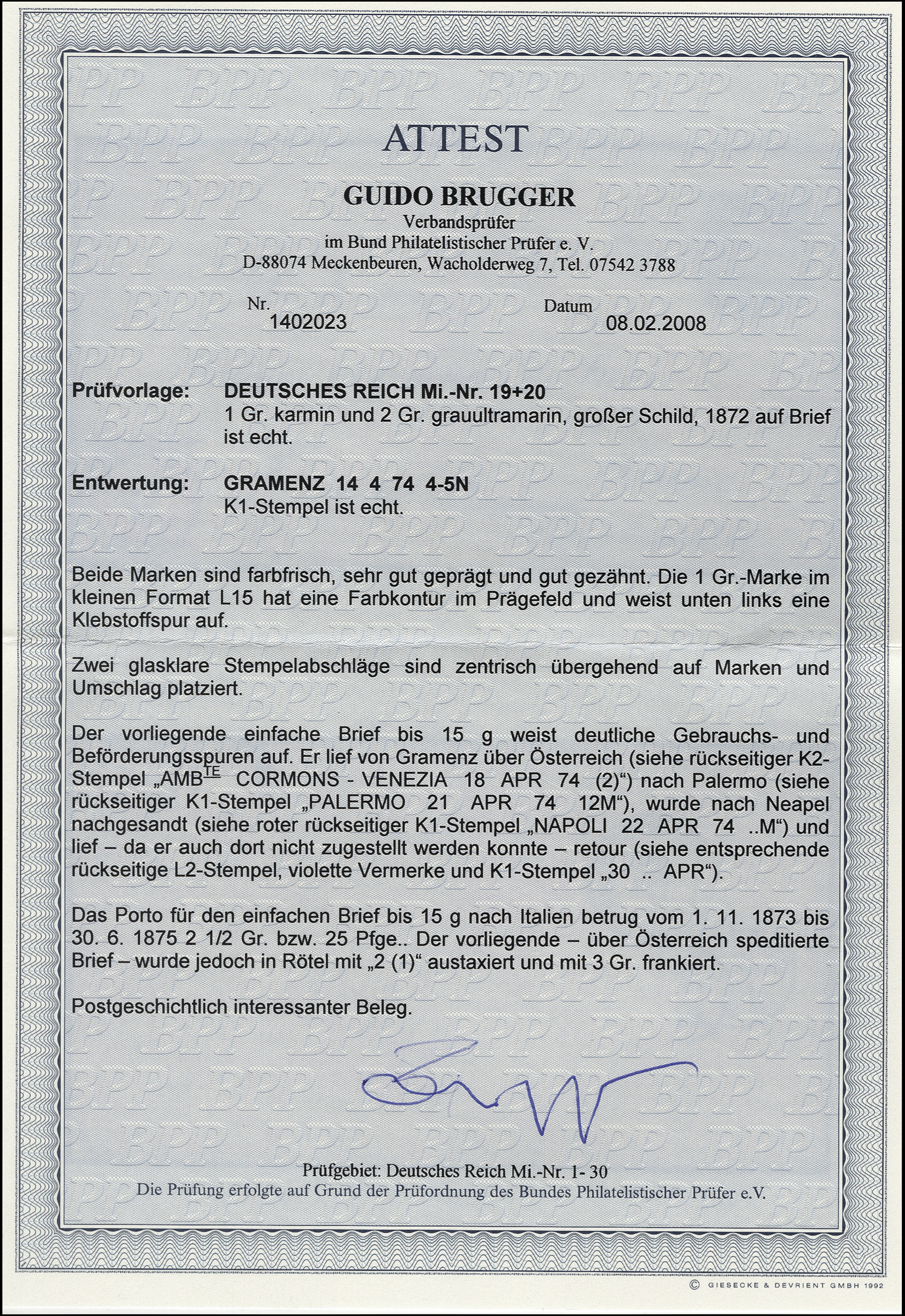 Lot 6194 - Main catalogue German Empire -  Heinrich Koehler Auktionen Heinrich Köhler Auction 376 - Day 4