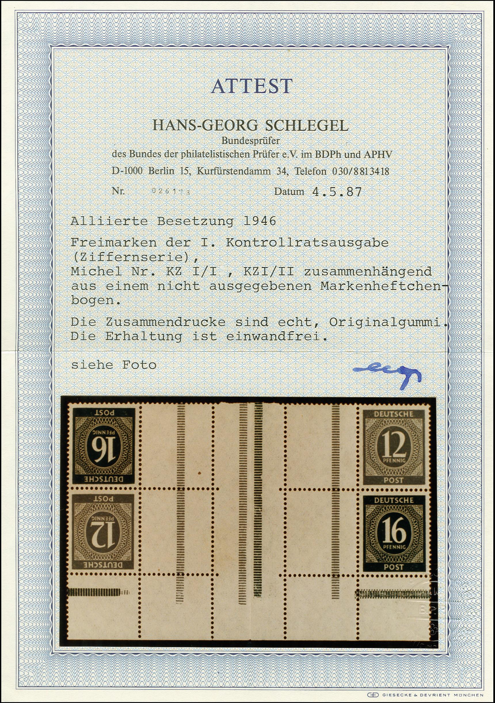 Lot 2210 - allied occupation Allied occupation se-tenants -  Heinrich Koehler Auktionen Heinrich Köhler Auction 376 - Day 1