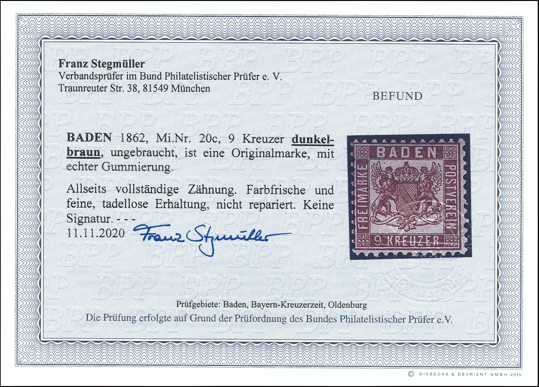 Lot 3401 - german states Baden -  Heinrich Koehler Auktionen Heinrich Köhler Auction 376 - Day 5