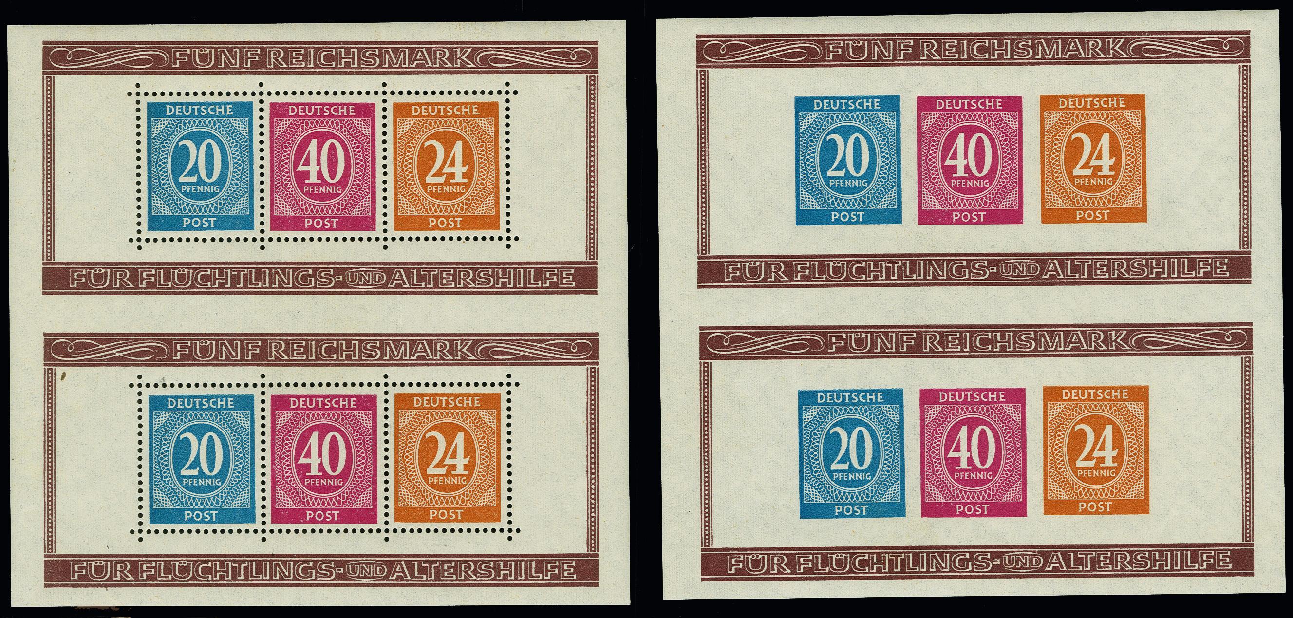Lot 2173 - allied occupation Allied occupation se-tenants -  Heinrich Koehler Auktionen Heinrich Köhler Auction 376 - Day 1