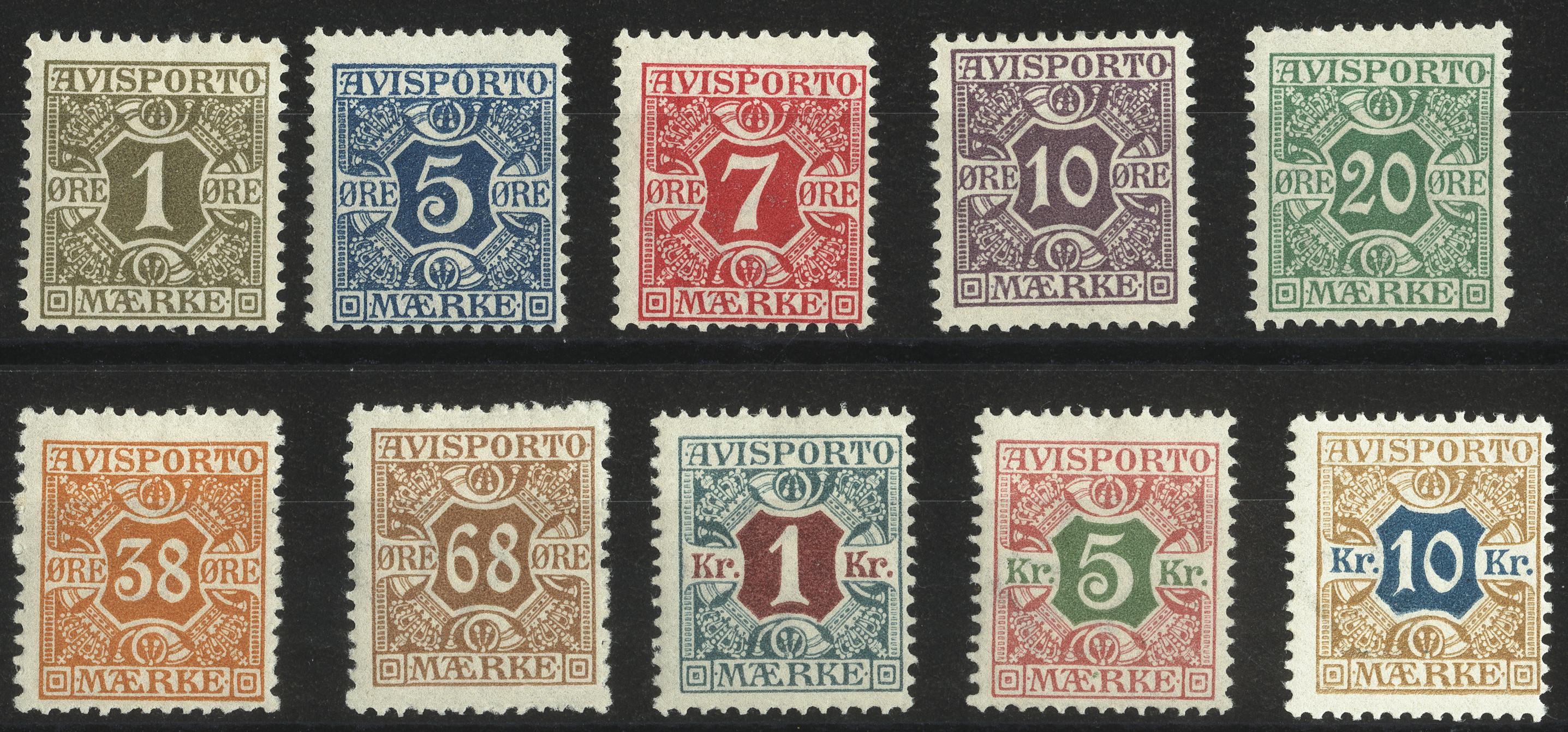 Lot 1131 - Denmark Denmark - Newspaper stamps -  Heinrich Koehler Auktionen Heinrich Köhler Auction 376 - Day 1