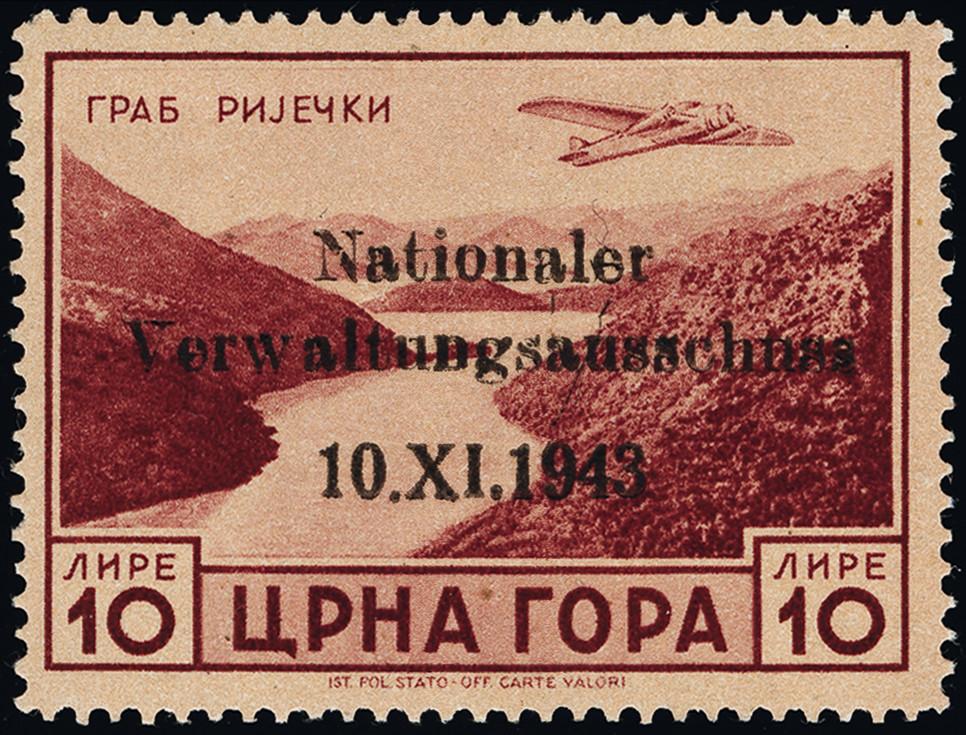 Lot 3354 - german occupation issues 1939/45 monténégro -  Heinrich Koehler Auktionen Heinrich Köhler Auction 376 - Day 4
