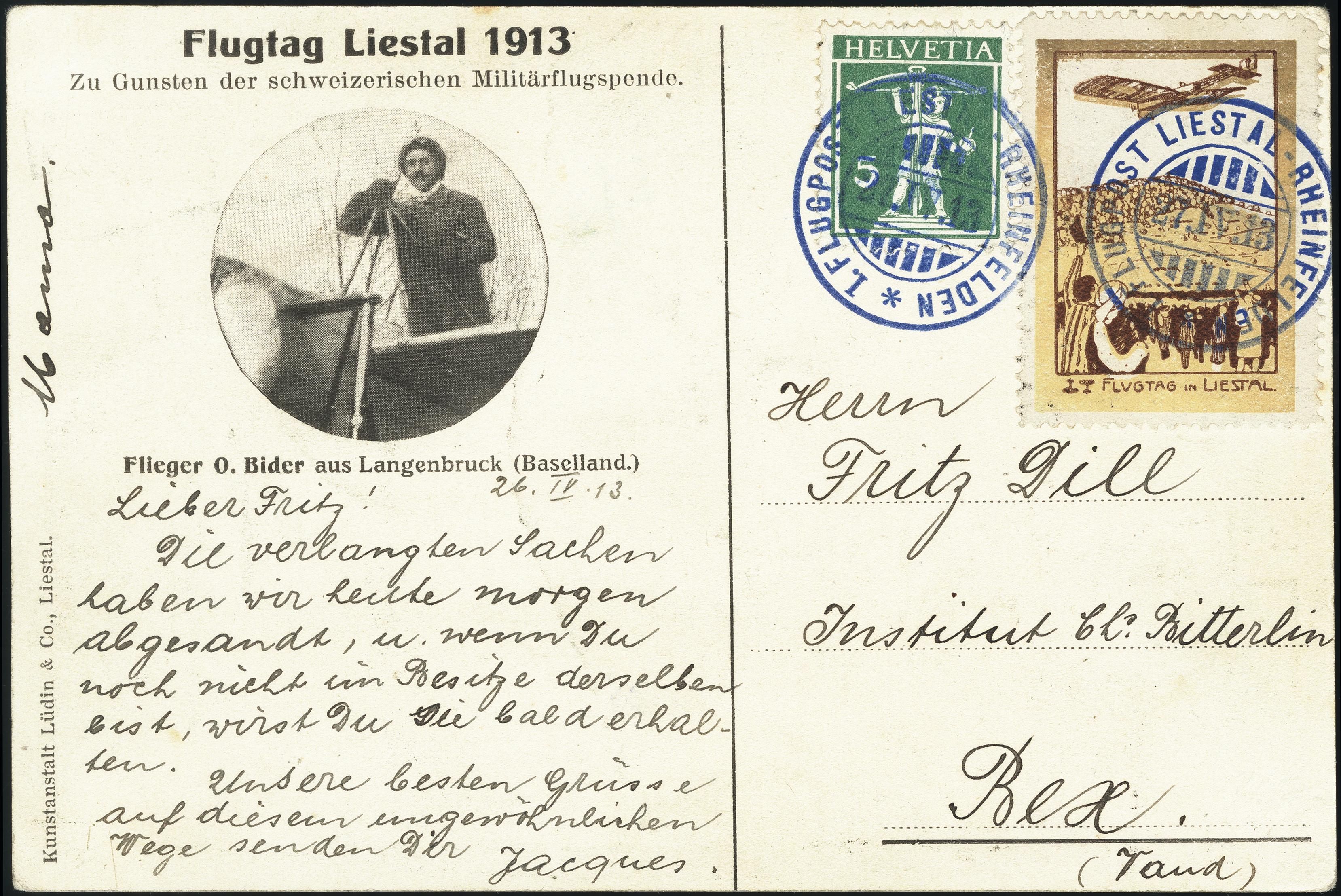Lot 1042 - europe Switzerland - semi-offical airmail -  Heinrich Koehler Auktionen Heinrich Köhler Auction 376 - Day 1