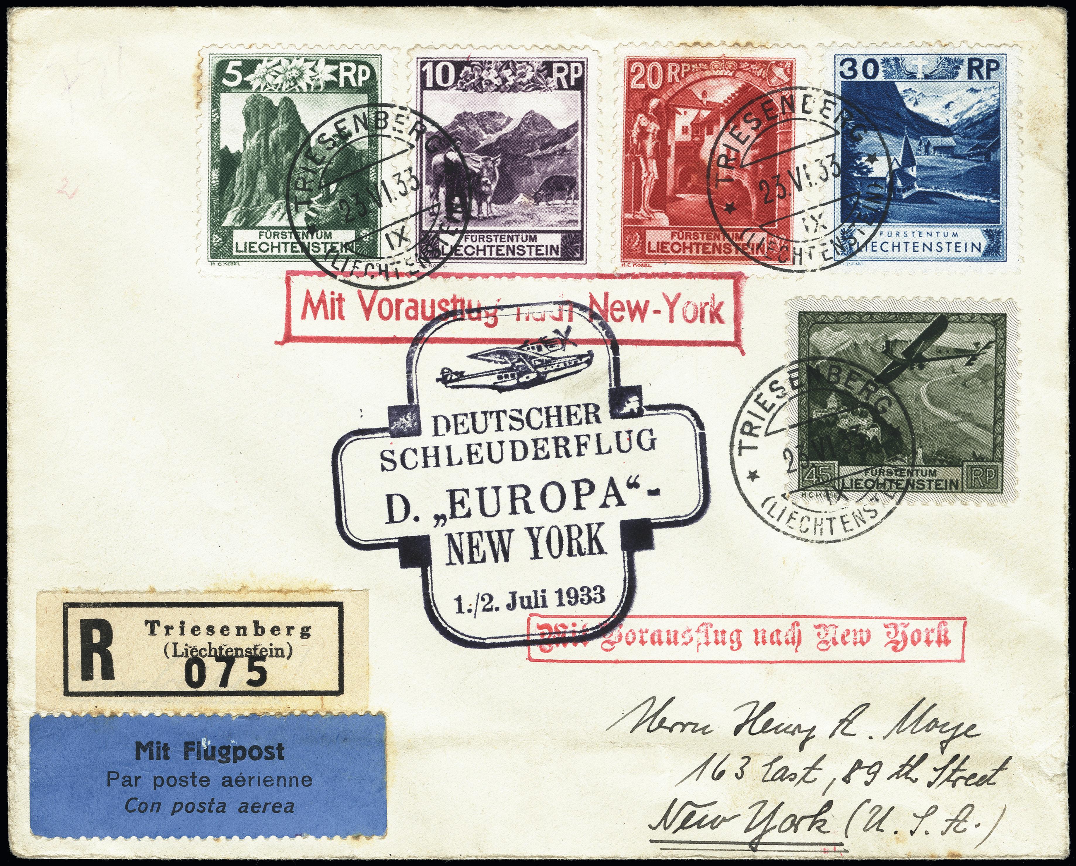 Lot 2011 - airmail catapult post -  Heinrich Koehler Auktionen Heinrich Köhler Auction 376 - Day 2