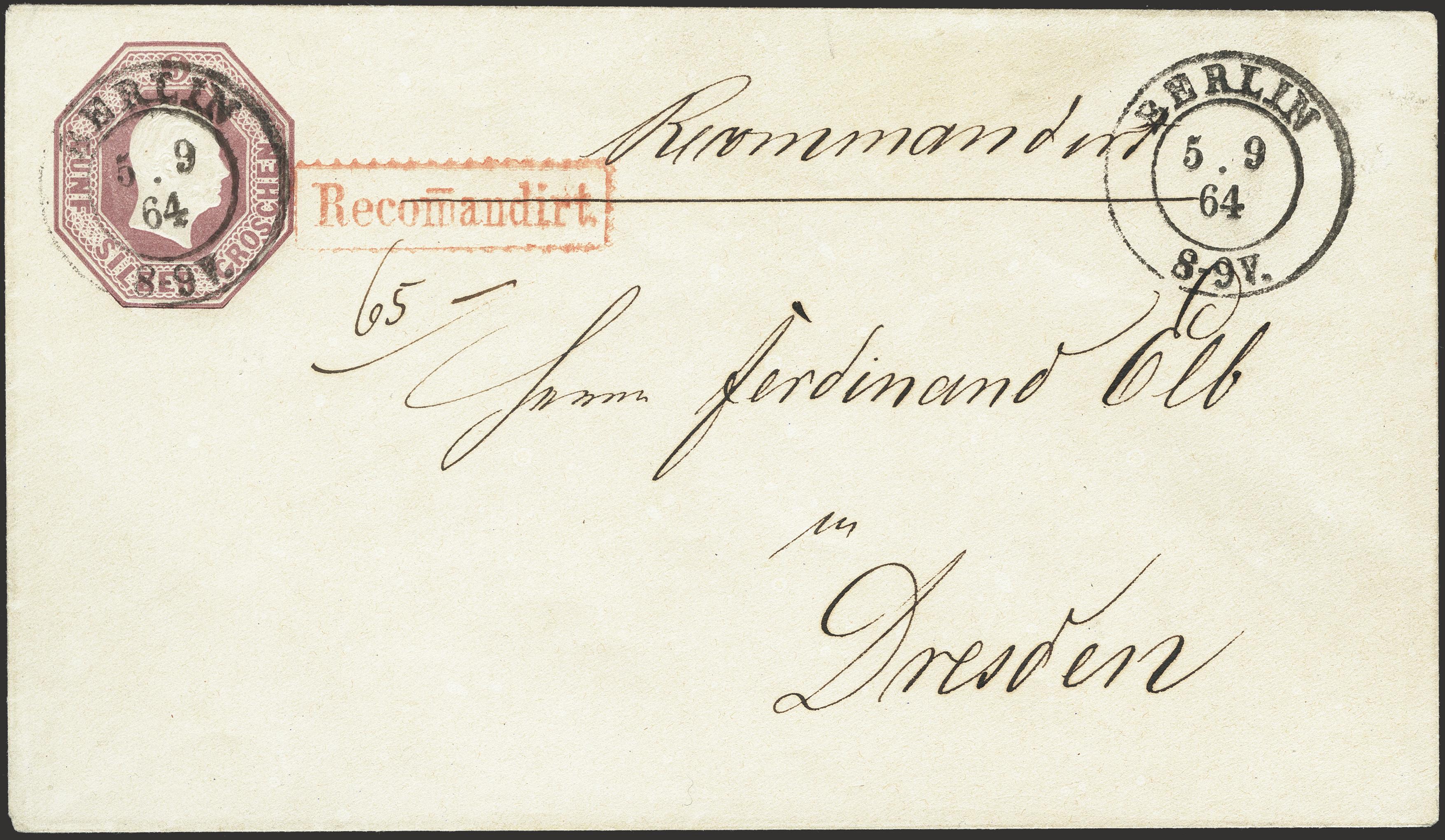 Lot 230 - prussia Prussia - postal stationary -  Heinrich Koehler Auktionen Heinrich Köhler Auction 376 - Day 6