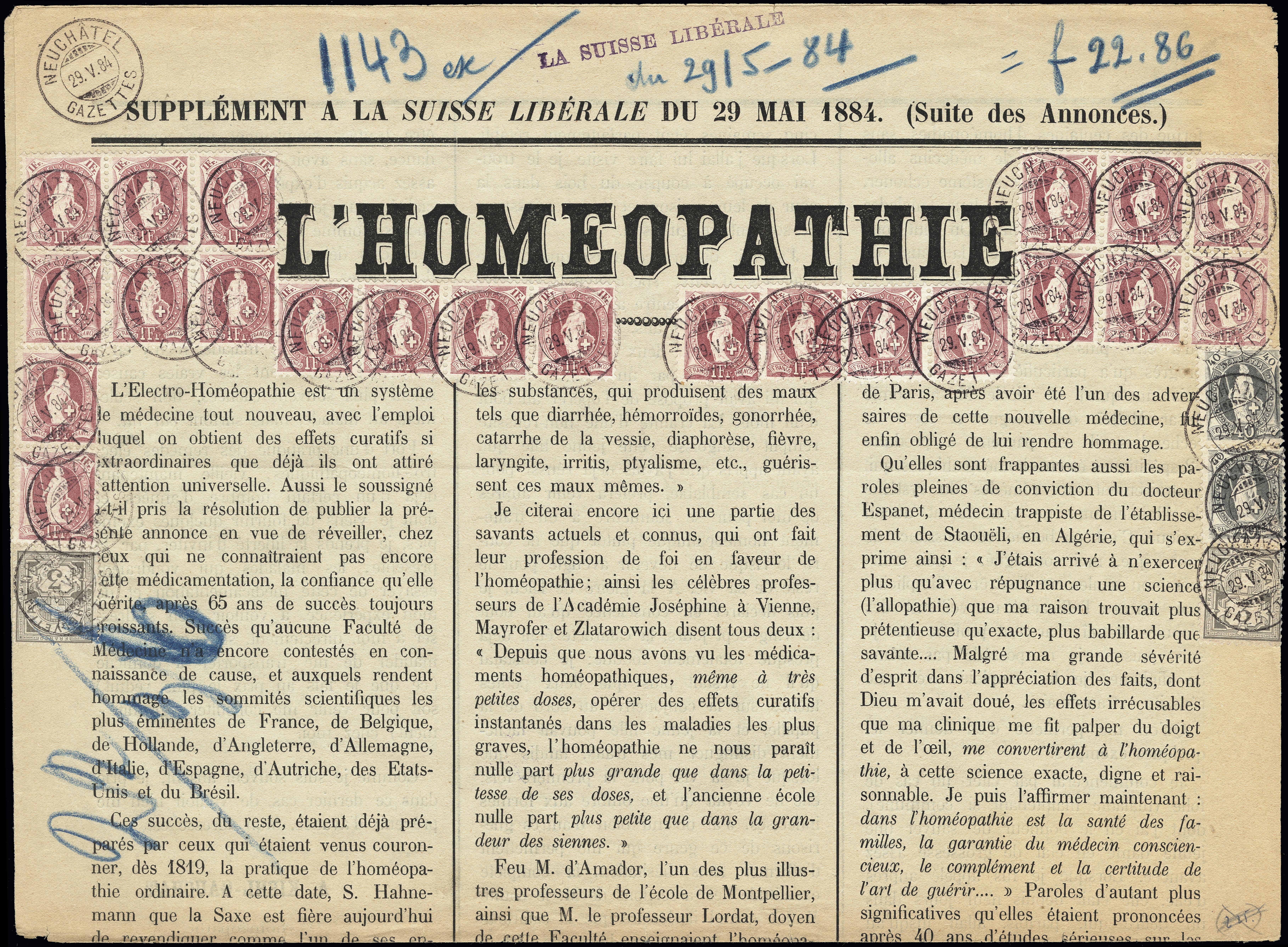 Lot 1031 - Switzerland swiss federal post -  Heinrich Koehler Auktionen Heinrich Köhler Auction 376 - Day 1