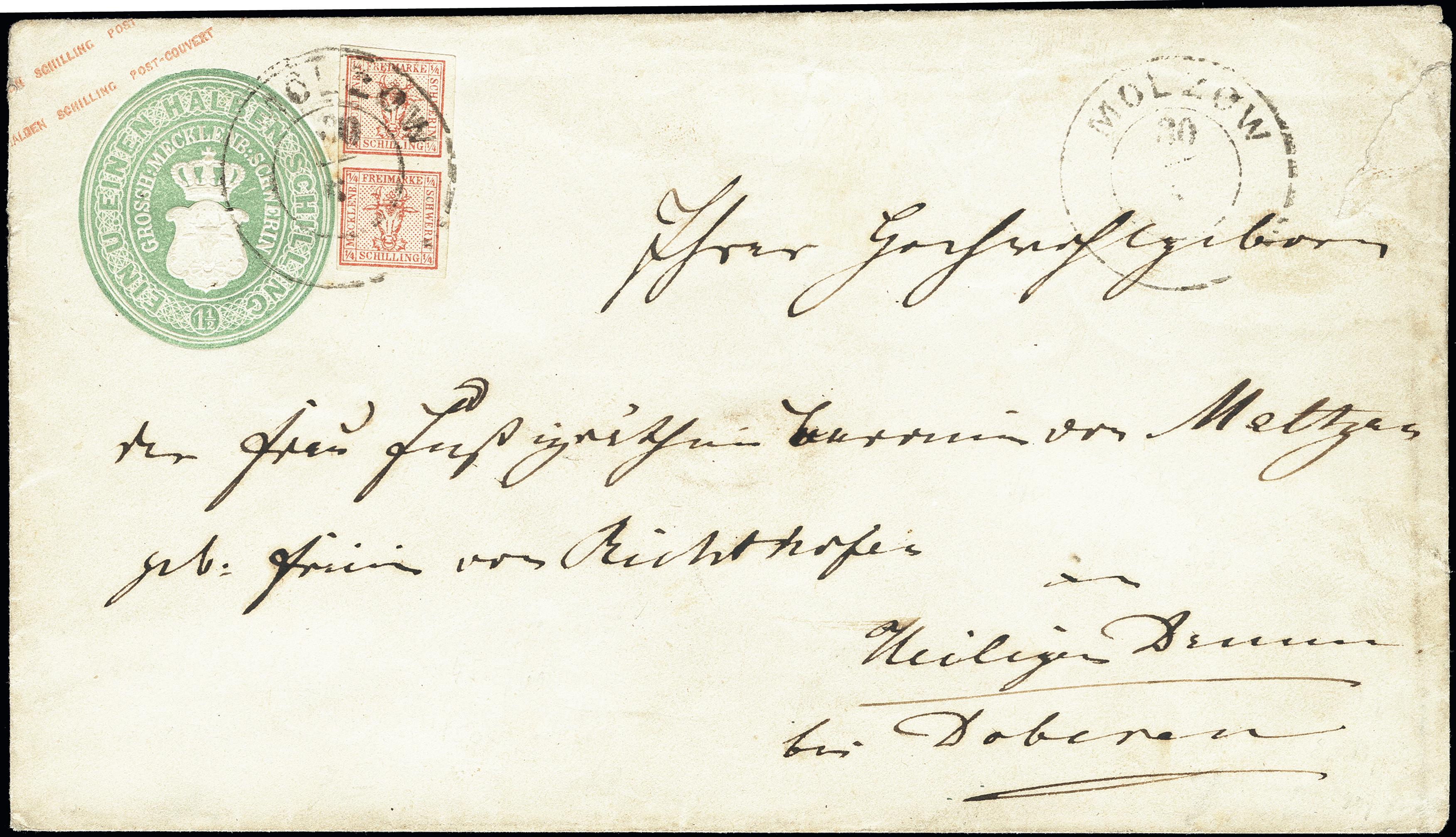 Lot 3423 - mecklenburg-schwerin Mecklenburg-Schwerin - cancellations -  Heinrich Koehler Auktionen Heinrich Köhler Auction 376 - Day 5