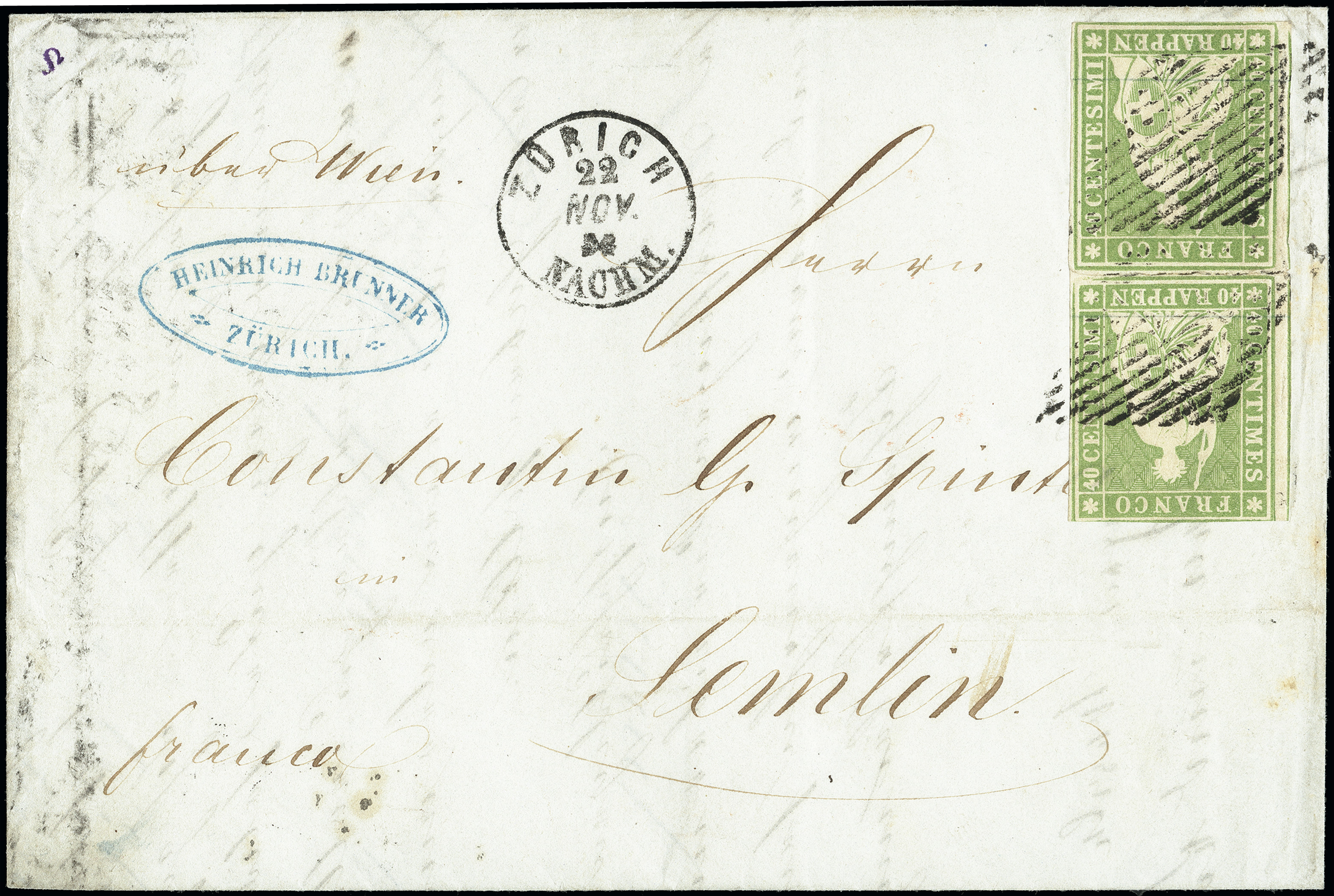 Lot 1004 - Switzerland swiss federal post -  Heinrich Koehler Auktionen Heinrich Köhler Auction 376 - Day 1
