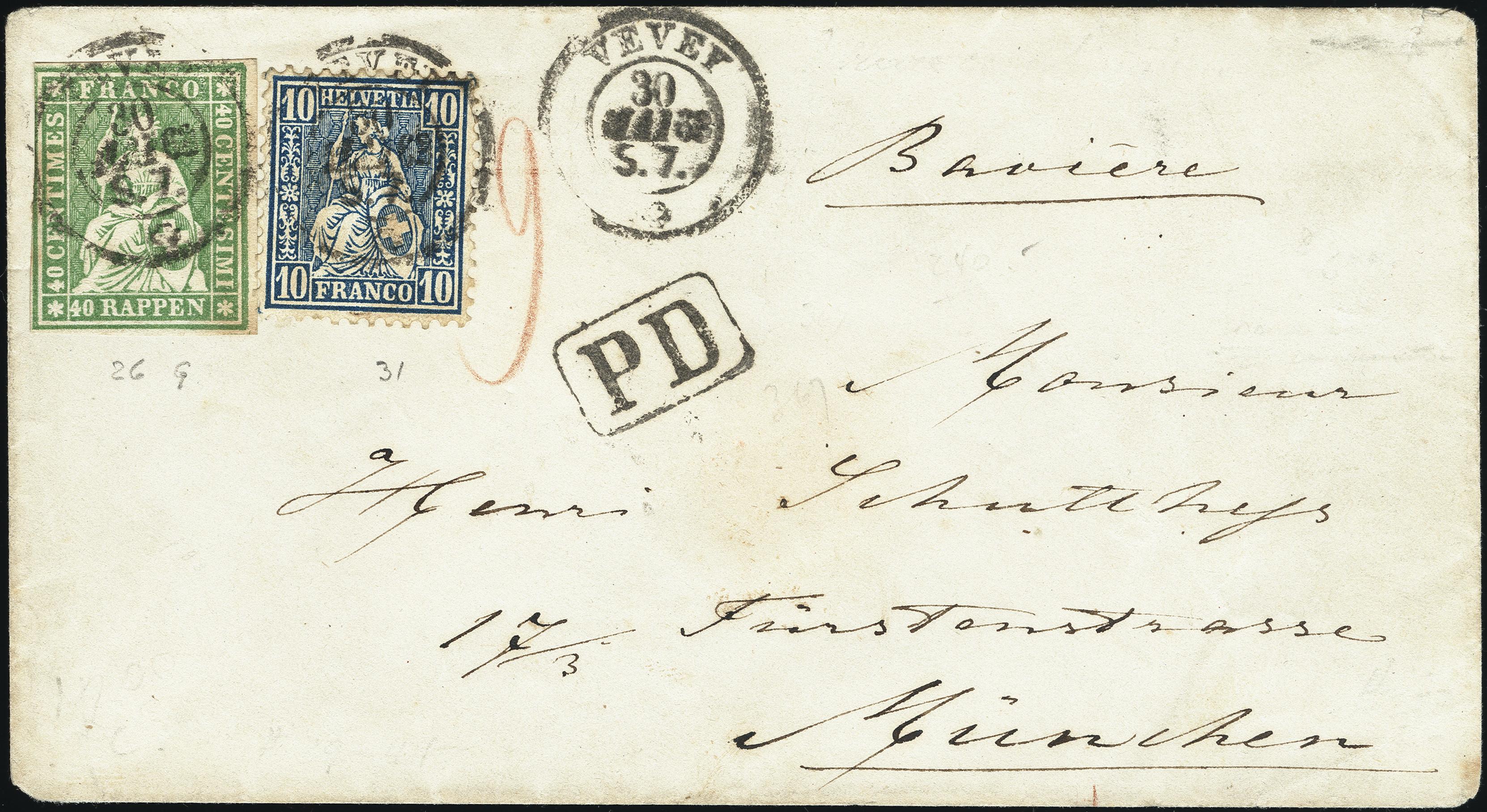 Lot 1020 - Switzerland swiss federal post -  Heinrich Koehler Auktionen Heinrich Köhler Auction 376 - Day 1